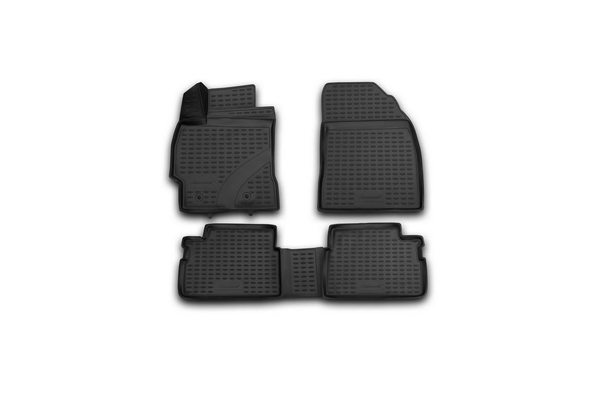 Набор автомобильных 3D-ковриков Novline-Autofamily для Toyota Corolla, 2013->, в салон, 4 шт набор автомобильных ковриков novline autofamily для toyota corolla 2007 седан в салон 4 шт