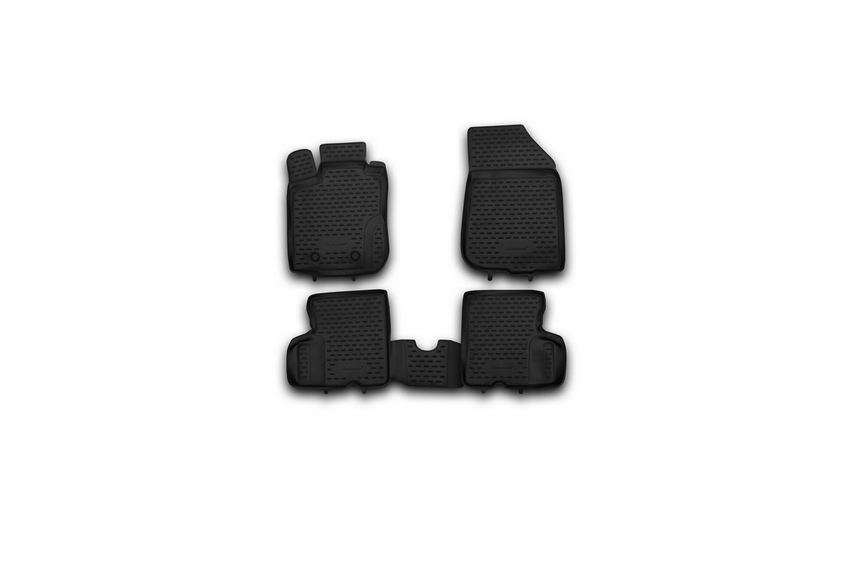 """Набор автомобильных ковриков """"Novline-Autofamily"""" для Renault Duster 4WD 2011-2015, в салон, 4 шт"""
