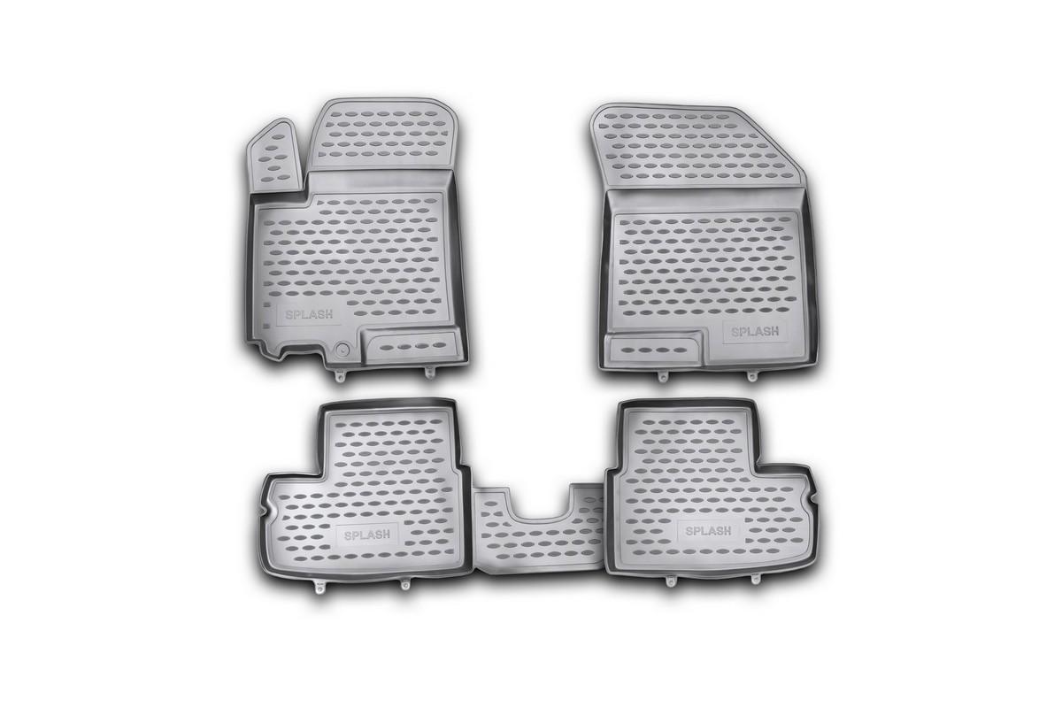 Набор автомобильных ковриков Novline-Autofamily для Suzuki Splash 05/2009-, в салон, 4 шт. NLC.47.17.210kNLC.47.17.210kНабор автомобильных ковриков Novline-Autofamily, изготовленный из полиуретана, состоит из 4 ковриков, которые учитывают все особенности каждой модели автомобиля и полностью повторяют контуры пола. Полиуретановые автомобильные коврики для салона произведены из высококачественного материала, который держит форму, прочный и не пачкает обувь. Коврики в салон не только улучшат внешний вид салона вашего автомобиля, но и надежно уберегут его от пыли, грязи и сырости, а значит, защитят кузов от коррозии. Полиуретановые коврики для автомобиля гладкие, приятные и не пропускают влагу. Ковры для автомобилей надежно крепятся на полу и не скользят, что очень важно во время движения. Чистятся коврики очень просто: как при помощи автомобильного пылесоса, так и различными моющими средствами. Набор подходит для Suzuki Splash с мая 2009 года выпуска.