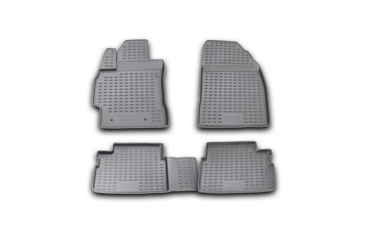 Набор автомобильных ковриков Novline-Autofamily для Toyota Corolla 01/2007-2013, в салон, цвет: черный, 4 штNLC.48.15.210kНабор автомобильных ковриков Novline-Autofamily, изготовленный из полиуретана, состоит из 4 ковриков, которые учитывают все особенности каждой модели автомобиля и полностью повторяют контуры пола. Полиуретановые автомобильные коврики для салона произведены из высококачественного материала, который держит форму, прочный и не пачкает обувь. Коврики в салон не только улучшат внешний вид салона вашего автомобиля, но и надежно уберегут его от пыли, грязи и сырости, а значит, защитят кузов от коррозии. Полиуретановые коврики для автомобиля гладкие, приятные и не пропускают влагу. Ковры для автомобилей надежно крепятся на полу и не скользят, что очень важно во время движения. Чистятся коврики очень просто: как при помощи автомобильного пылесоса, так и различными моющими средствами. Набор подходит для Toyota Corolla январь 2007-2013 годов выпуска.