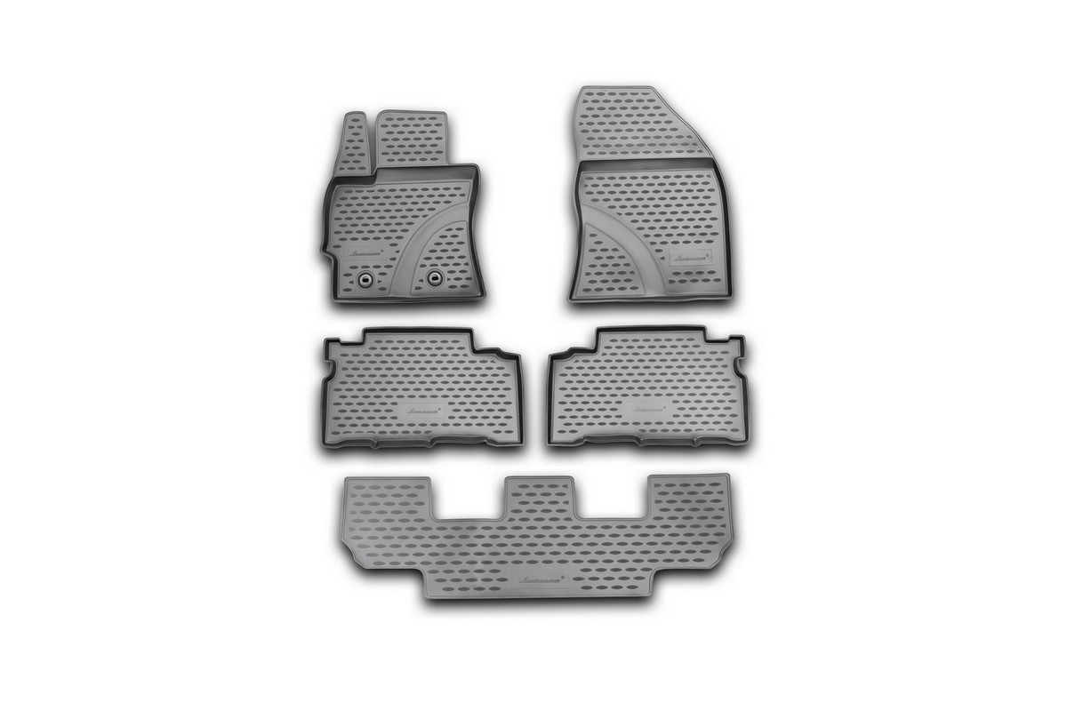 Набор автомобильных ковриков Novline-Autofamily для Toyota Verso 2013-, в салон, 5 штNLC.48.61.210kНабор автомобильных ковриков Novline-Autofamily, изготовленный из полиуретана, состоит из 5 ковриков, которые учитывают все особенности каждой модели автомобиля и полностью повторяют контуры пола. Полиуретановые автомобильные коврики для салона произведены из высококачественного материала, который держит форму, прочный и не пачкает обувь. Коврики в салон не только улучшат внешний вид салона вашего автомобиля, но и надежно уберегут его от пыли, грязи и сырости, а значит, защитят кузов от коррозии. Полиуретановые коврики для автомобиля гладкие, приятные и не пропускают влагу. Ковры для автомобилей надежно крепятся на полу и не скользят, что очень важно во время движения. Чистятся коврики очень просто: как при помощи автомобильного пылесоса, так и различными моющими средствами. Набор подходит для Toyota Verso с 2013 года выпуска.
