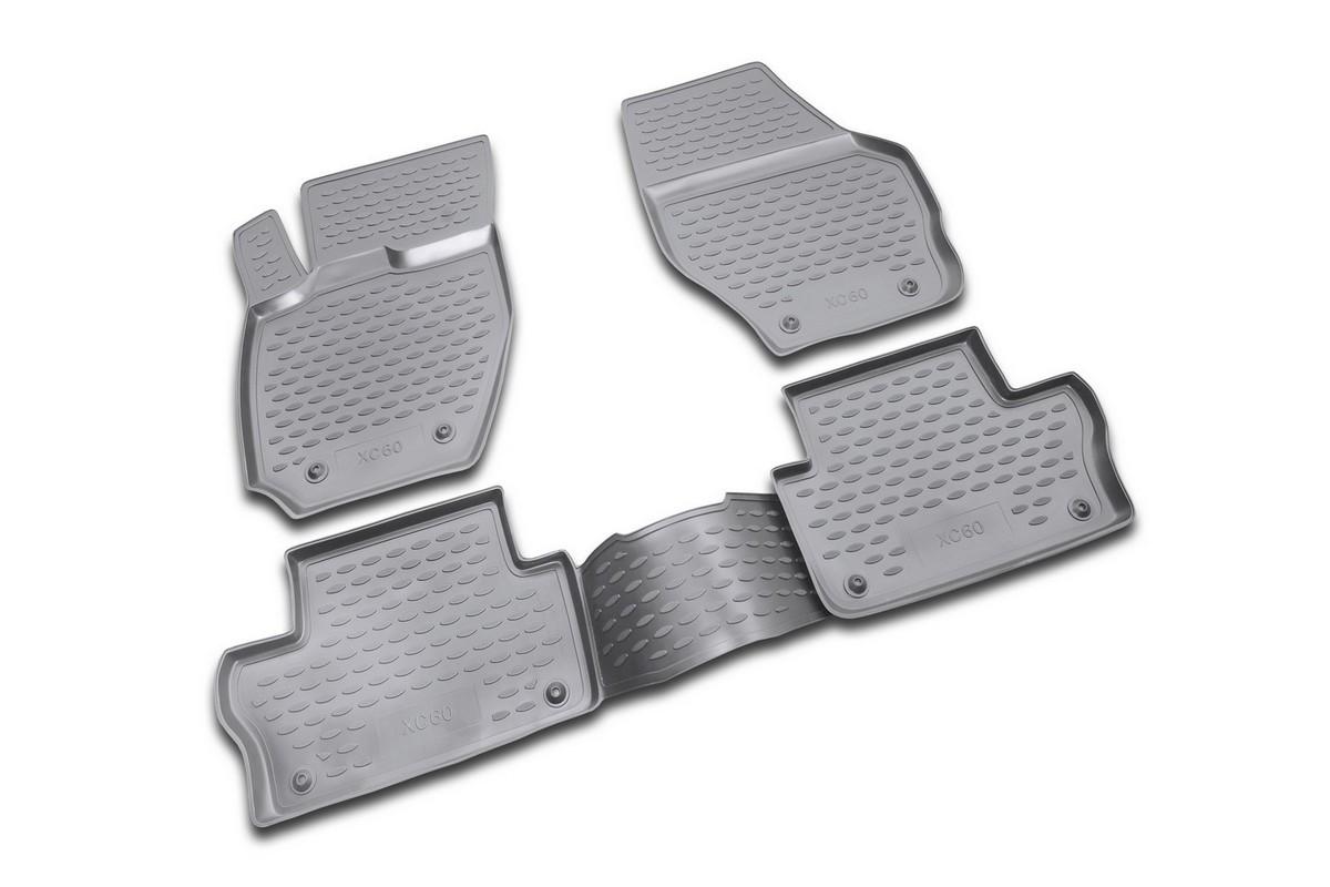 Набор автомобильных ковриков Novline-Autofamily для Volvo XC60 2007-, в салон, цвет: черный, 4 штNLC.50.09.210Набор автомобильных ковриков Novline-Autofamily, изготовленный из полиуретана, состоит из 4 ковриков, которые учитывают все особенности каждой модели автомобиля и полностью повторяют контуры пола. Полиуретановые автомобильные коврики для салона произведены из высококачественного материала, который держит форму, прочный и не пачкает обувь. Коврики в салон не только улучшат внешний вид салона вашего автомобиля, но и надежно уберегут его от пыли, грязи и сырости, а значит, защитят кузов от коррозии. Полиуретановые коврики для автомобиля гладкие, приятные и не пропускают влагу. Ковры для автомобилей надежно крепятся на полу и не скользят, что очень важно во время движения. Чистятся коврики очень просто: как при помощи автомобильного пылесоса, так и различными моющими средствами. Набор подходит для Volvo XC60 с 2007 года выпуска.