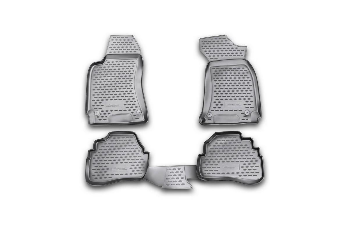Набор автомобильных ковриков Novline-Autofamily для Volkswagen Passat B5 1996-2005, в салон, цвет: черный, 4 штNLC.51.09.210kНабор автомобильных ковриков Novline-Autofamily, изготовленный из полиуретана, состоит из 4 ковриков, которые учитывают все особенности каждой модели автомобиля и полностью повторяют контуры пола. Полиуретановые автомобильные коврики для салона произведены из высококачественного материала, который держит форму, прочный и не пачкает обувь. Коврики в салон не только улучшат внешний вид салона вашего автомобиля, но и надежно уберегут его от пыли, грязи и сырости, а значит, защитят кузов от коррозии. Полиуретановые коврики для автомобиля гладкие, приятные и не пропускают влагу. Ковры для автомобилей надежно крепятся на полу и не скользят, что очень важно во время движения. Чистятся коврики очень просто: как при помощи автомобильного пылесоса, так и различными моющими средствами. Набор подходит для Volkswagen Passat B5 1996-2005 годов выпуска.