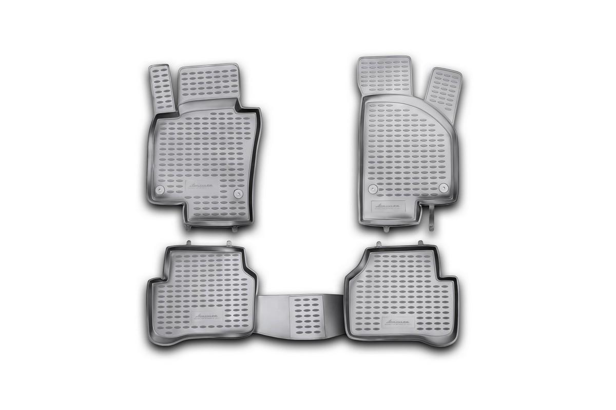 Набор автомобильных ковриков Novline-Autofamily для Volkswagen Passat B7 2011-2015, в салон, 4 шт