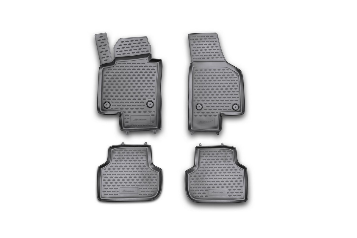 Набор автомобильных ковриков Novline-Autofamily для Volkswagen Jetta 2011-, в салон, 4 шт