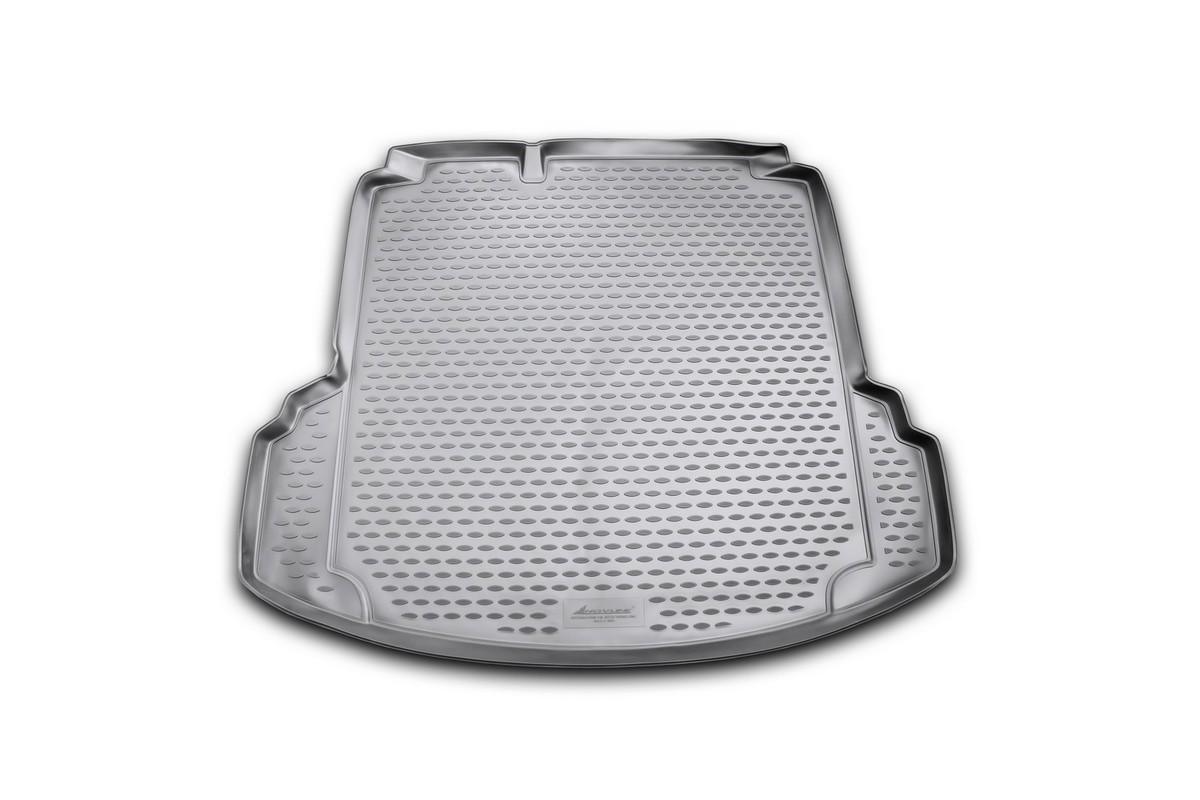 Коврик автомобильный Novline-Autofamily для Volkswagen Jetta Conceptline / Conceptline Plus / Trendline седан 2011-2015, 2015-, в багажник, с карманами