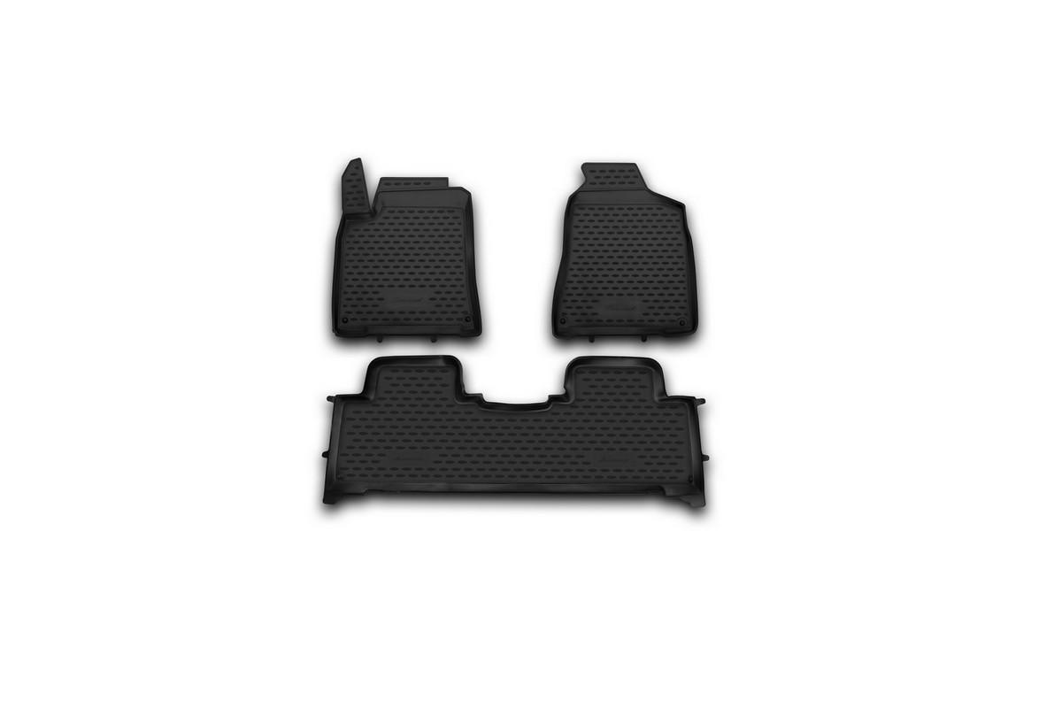 Набор автомобильных ковриков Novline-Autofamily для SsangYong New Actyon 2010-, в салон, 3 штNLC.61.10.210hНабор автомобильных ковриков Novline-Autofamily, изготовленный из полиуретана, состоит из 3 ковриков, которые учитывают все особенности каждой модели автомобиля и полностью повторяют контуры пола. Полиуретановые автомобильные коврики для салона произведены из высококачественного материала, который держит форму, прочный и не пачкает обувь. Коврики в салон не только улучшат внешний вид салона вашего автомобиля, но и надежно уберегут его от пыли, грязи и сырости, а значит, защитят кузов от коррозии. Полиуретановые коврики для автомобиля гладкие, приятные и не пропускают влагу. Ковры для автомобилей надежно крепятся на полу и не скользят, что очень важно во время движения. Чистятся коврики очень просто: как при помощи автомобильного пылесоса, так и различными моющими средствами. Набор подходит для SsangYong New Actyon с 2010 года выпуска.