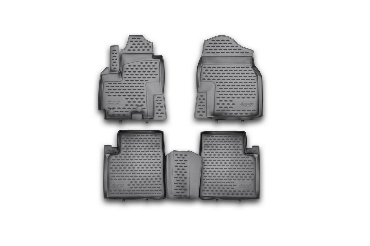 Коврики в салон автомобиля Novline-Autofamily, для Lifan X 60, 2012->, полиуретан, 4 штNLC.73.04.210khКоврики в салон не только улучшат внешний вид салона вашего автомобиля, но и надежно уберегут его от пыли, грязи и сырости, а значит, защитят кузов от коррозии. Полиуретановые коврики для автомобиля гладкие, приятные и не пропускают влагу. Автомобильные коврики в салон учитывают все особенности каждой модели и полностью повторяют контуры пола. Благодаря этому их не нужно будет подгибать или обрезать. И самое главное — они не будут мешать педалям.Полиуретановые автомобильные коврики для салона произведены из высококачественного материала, который держит форму и не пачкает обувь. К тому же, этот материал очень прочный (его, к примеру, не получится проткнуть каблуком).Некоторые автоковрики становятся источником неприятного запаха в автомобиле. С полиуретановыми ковриками Novline вы можете этого не бояться.Ковры для автомобилей надежно крепятся на полу и не скользят, что очень важно во время движения, особенно для водителя.Автоковры из полиуретана надежно удерживают грязь и влагу, при этом всегда выглядят довольно опрятно. И чистятся они очень просто: как при помощи автомобильного пылесоса, так и различными моющими средствами.