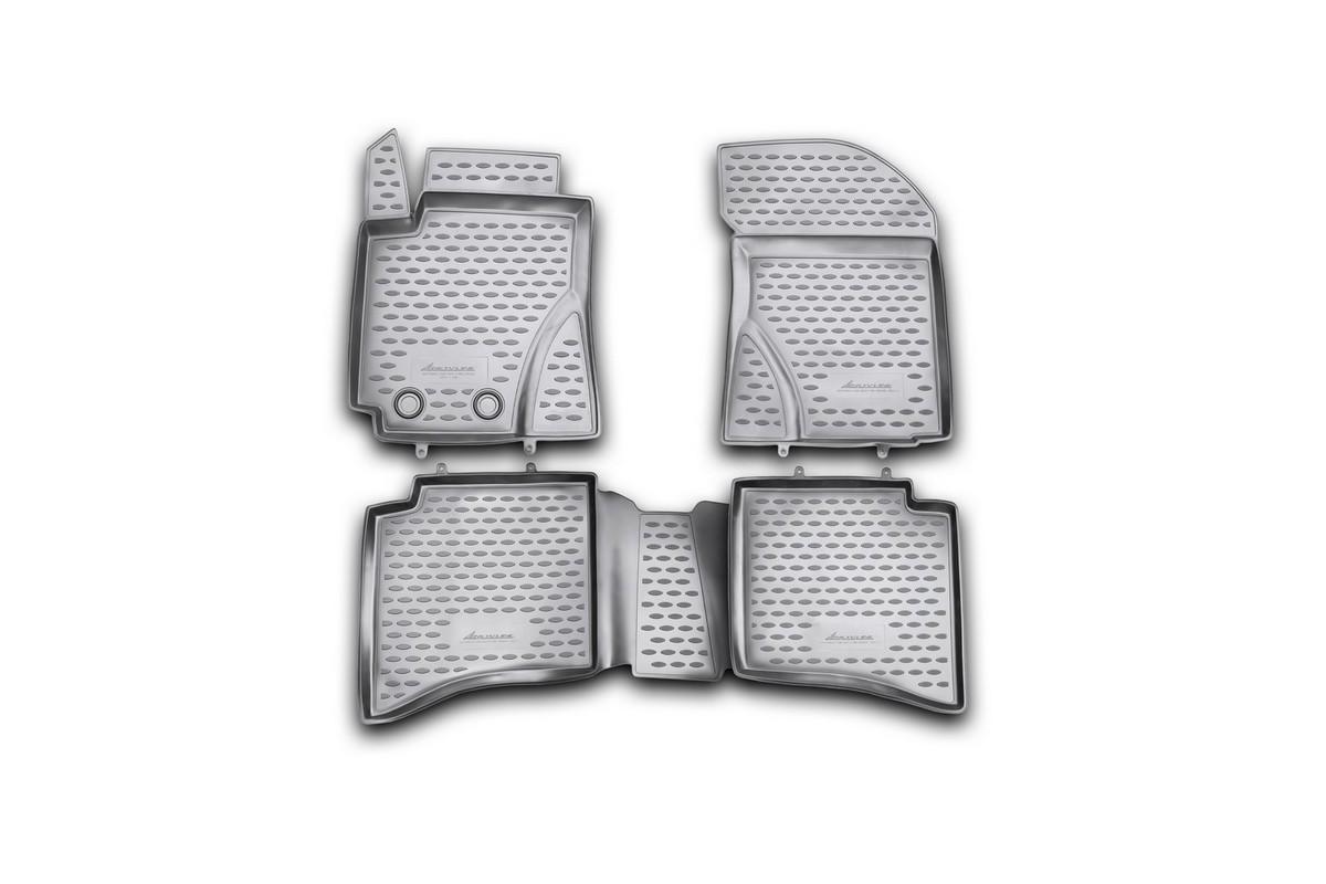 Набор автомобильных ковриков Novline-Autofamily для Geely MK Cross 2011-2012, в салон, 4 штNLC.75.04.210khНабор автомобильных ковриков Novline-Autofamily, изготовленный из полиуретана, состоит из 4 ковриков, которые учитывают все особенности каждой модели автомобиля и полностью повторяют контуры пола. Полиуретановые автомобильные коврики для салона произведены из высококачественного материала, который держит форму, прочный и не пачкает обувь. Коврики в салон не только улучшат внешний вид салона вашего автомобиля, но и надежно уберегут его от пыли, грязи и сырости, а значит, защитят кузов от коррозии. Полиуретановые коврики для автомобиля гладкие, приятные и не пропускают влагу. Ковры для автомобилей надежно крепятся на полу и не скользят, что очень важно во время движения. Чистятся коврики очень просто: как при помощи автомобильного пылесоса, так и различными моющими средствами. Набор подходит для Geely MK Cross 2011-2012 годов выпуска.