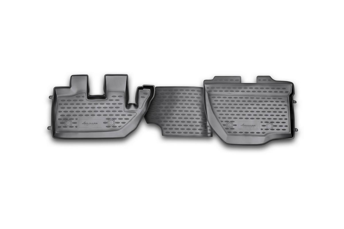 Набор автомобильных ковриков Novline-Autofamily для Hino 300 2010-, в салон, 2 штNLC.84.01.210khНабор автомобильных ковриков Novline-Autofamily, изготовленный из полиуретана, состоит из 2 ковриков, которые учитывают все особенности каждой модели автомобиля и полностью повторяют контуры пола. Полиуретановые автомобильные коврики для салона произведены из высококачественного материала, который держит форму, прочный и не пачкает обувь. Коврики в салон не только улучшат внешний вид салона вашего автомобиля, но и надежно уберегут его от пыли, грязи и сырости, а значит, защитят кузов от коррозии. Полиуретановые коврики для автомобиля гладкие, приятные и не пропускают влагу. Ковры для автомобилей надежно крепятся на полу и не скользят, что очень важно во время движения. Чистятся коврики очень просто: как при помощи автомобильного пылесоса, так и различными моющими средствами. Набор подходит для Hino 300 с 2010 года выпуска.