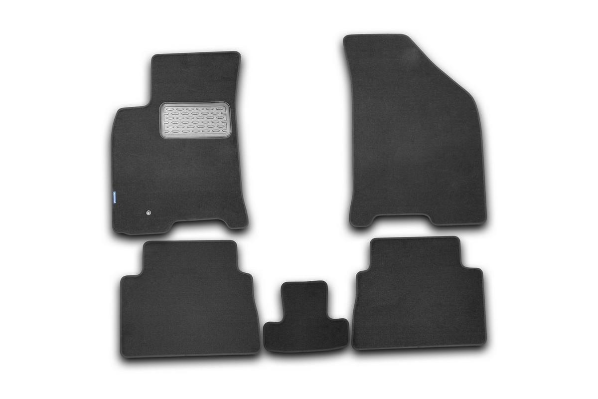 Набор автомобильных ковриков Novline-Autofamily для Chevrolet Lacetti 2004-, седан/хэтчбек/универсал, в салон, 5 шт коврики салона chevrolet lacetti с бортиками ip 07 00033