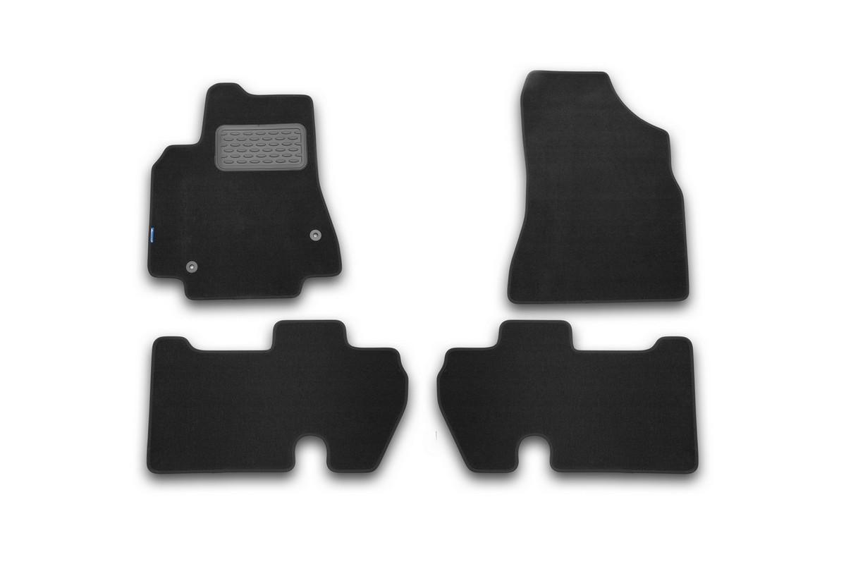 Набор автомобильных ковриков Novline-Autofamily для Citroen Berlingo 2008-, минивэн, в салон, 4 штNLT.10.09.11.110khНабор автомобильных ковриков Novline-Autofamily, изготовленный из текстиля, состоит из 4 ковриков, которые учитывают все особенности каждой модели автомобиля и полностью повторяют контуры пола. Текстильные автомобильные коврики для салона произведены из высококачественного материала, который держит форму, прочный и не пачкает обувь. Коврики в салон не только улучшат внешний вид салона вашего автомобиля, но и надежно уберегут его от пыли, грязи и сырости, а значит, защитят кузов от коррозии. Текстильные коврики для автомобиля мягкие и приятные, а их основа из вспененного полиуретана не пропускает влагу. Ковры для автомобилей надежно крепятся на полу и не скользят, что очень важно во время движения. Чистятся коврики очень просто: как при помощи автомобильного пылесоса, так и различными моющими средствами. Набор подходит для Citroen Berlingo минивэн с 2008 года выпуска.