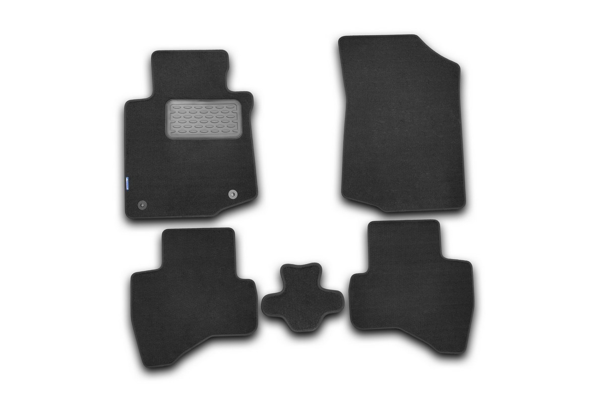 Набор автомобильных ковриков Novline-Autofamily для Citroen C1 3D, 5D 2010-, хэтчбек, в салон, 5 штNLT.10.25.11.110khНабор автомобильных ковриков Novline-Autofamily, изготовленный из текстиля, состоит из 5 ковриков, которые учитывают все особенности каждой модели автомобиля и полностью повторяют контуры пола. Текстильные автомобильные коврики для салона произведены из высококачественного материала, который держит форму, прочный и не пачкает обувь. Коврики в салон не только улучшат внешний вид салона вашего автомобиля, но и надежно уберегут его от пыли, грязи и сырости, а значит, защитят кузов от коррозии. Текстильные коврики для автомобиля мягкие и приятные, а их основа из вспененного полиуретана не пропускает влагу. Ковры для автомобилей надежно крепятся на полу и не скользят, что очень важно во время движения. Чистятся коврики очень просто: как при помощи автомобильного пылесоса, так и различными моющими средствами. Набор подходит для Citroen C1 3D, 5D хэтчбек с 2010 года выпуска.