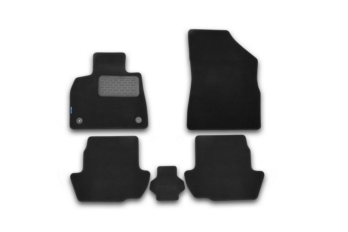 Набор автомобильных ковриков Novline-Autofamily для Citroen DS5 АКПП 2012-, хэтчбек, в салон, 5 штNLT.10.28.11.110khНабор автомобильных ковриков Novline-Autofamily, изготовленный из текстиля, состоит из 5 ковриков, которые учитывают все особенности каждой модели автомобиля и полностью повторяют контуры пола. Текстильные автомобильные коврики для салона произведены из высококачественного материала, который держит форму, прочный и не пачкает обувь. Коврики в салон не только улучшат внешний вид салона вашего автомобиля, но и надежно уберегут его от пыли, грязи и сырости, а значит, защитят кузов от коррозии. Текстильные коврики для автомобиля мягкие и приятные, а их основа из вспененного полиуретана не пропускает влагу. Ковры для автомобилей надежно крепятся на полу и не скользят, что очень важно во время движения. Чистятся коврики очень просто: как при помощи автомобильного пылесоса, так и различными моющими средствами. Набор подходит для Citroen DS5 АКПП хэтчбек с 2012 года выпуска.