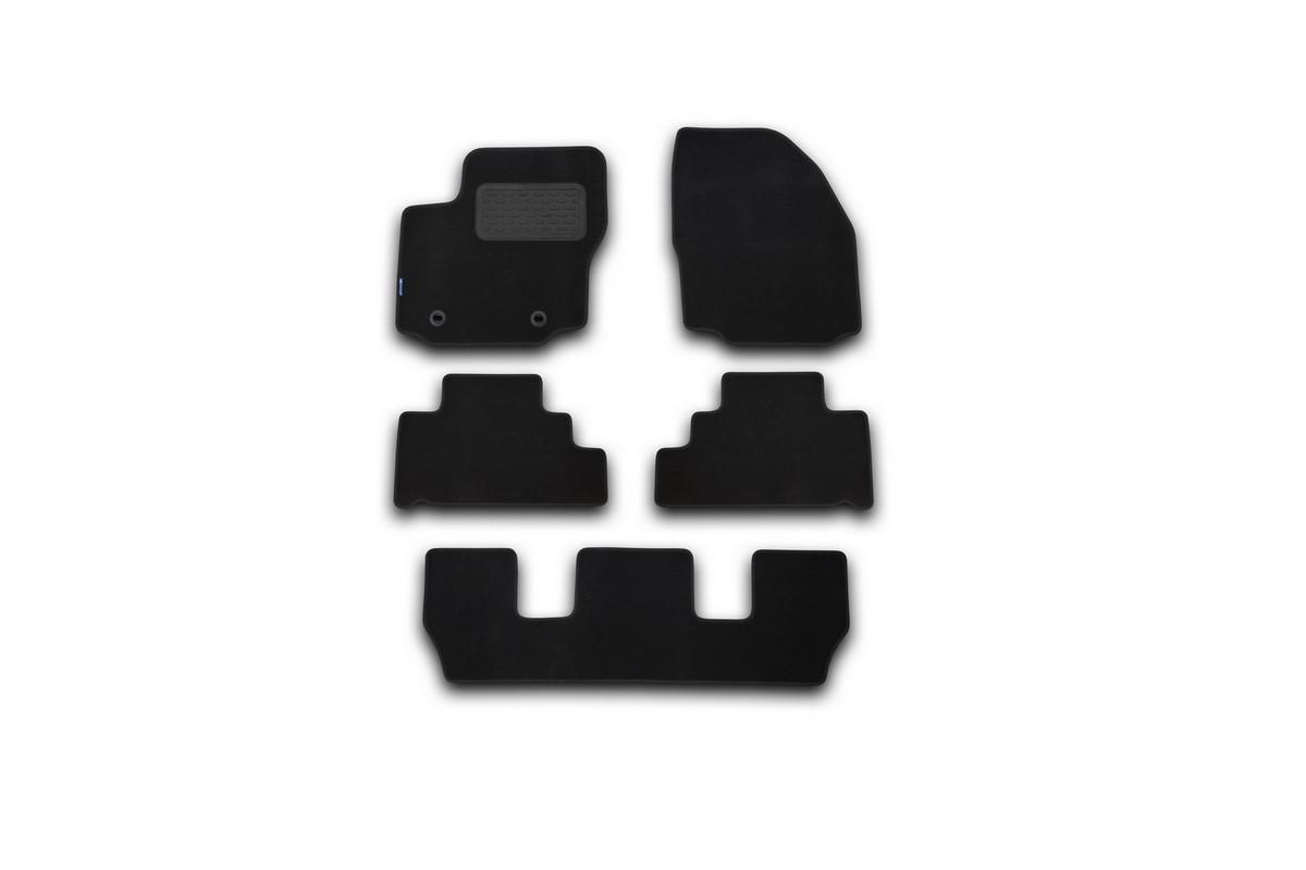 Набор автомобильных ковриков Novline-Autofamily для Ford Galaxy 2007-, минивен, в салон, 5 шт коврики в салон автомобиля novline autofamily для ford transit мкпп 2006 2014 2 шт
