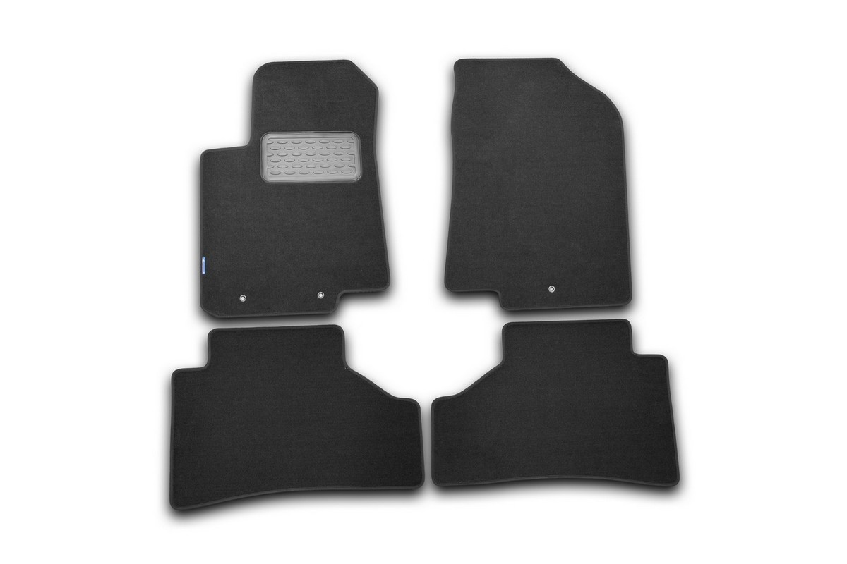 Набор автомобильных ковриков Novline-Autofamily для Hyundai Solaris 2011-, хэтчбек/седан, в салон, цвет: черный, 4 шт. NLT.20.45.11.111kh