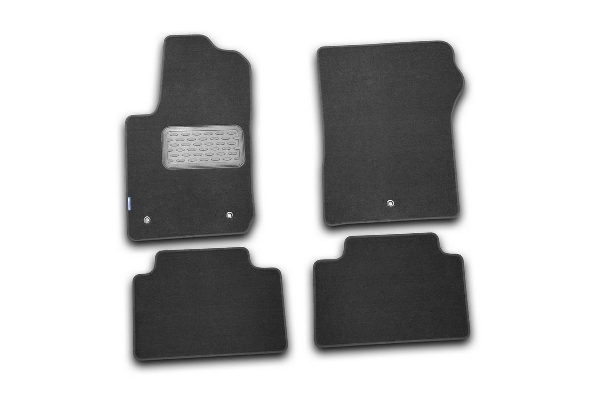 Набор автомобильных ковриков Novline-Autofamily для Jeep Grand Cherokee 2010-, внедорожник, в салон, цвет: черный, 4 шт
