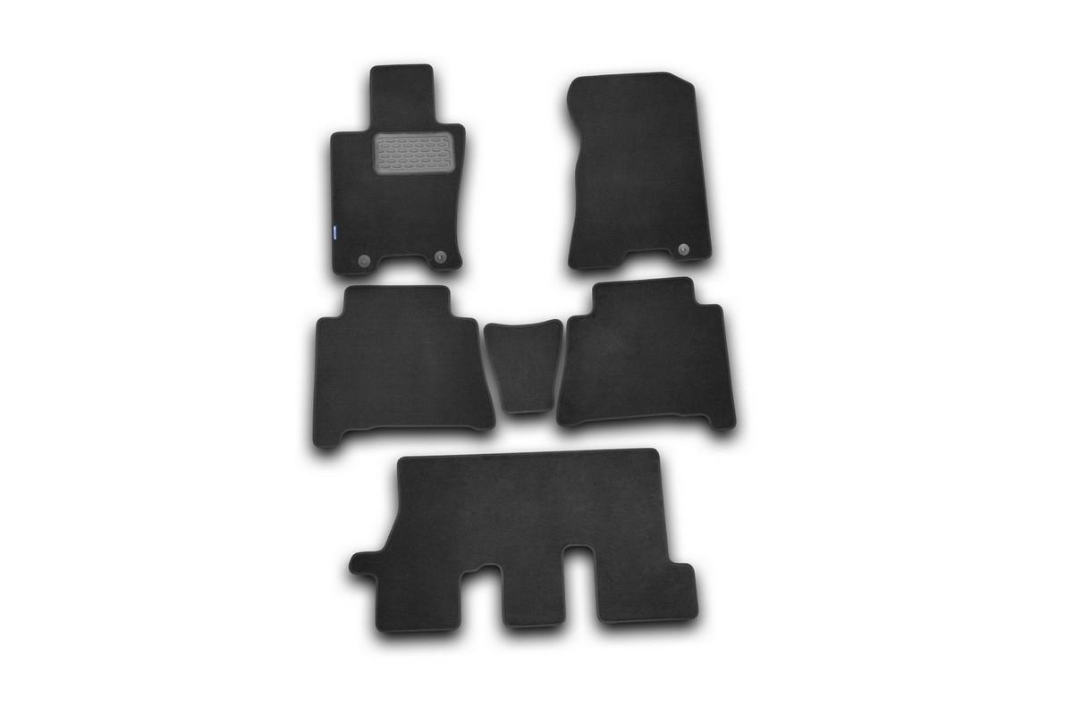 Набор автомобильных ковриков Novline-Autofamily для Kia Mohave 2009-, внедорожник, в салон, 6 штNLT.25.29.11.110khНабор автомобильных ковриков Novline-Autofamily, изготовленный из текстиля, состоит из 6 ковриков, которые учитывают все особенности каждой модели автомобиля и полностью повторяют контуры пола. Текстильные автомобильные коврики для салона произведены из высококачественного материала, который держит форму, прочный и не пачкает обувь. Коврики в салон не только улучшат внешний вид салона вашего автомобиля, но и надежно уберегут его от пыли, грязи и сырости, а значит, защитят кузов от коррозии. Текстильные коврики для автомобиля мягкие и приятные, а их основа из вспененного полиуретана не пропускает влагу. Ковры для автомобилей надежно крепятся на полу и не скользят, что очень важно во время движения. Чистятся коврики очень просто: как при помощи автомобильного пылесоса, так и различными моющими средствами. Набор подходит для Kia Mohave внедорожник с 2009 года выпуска.