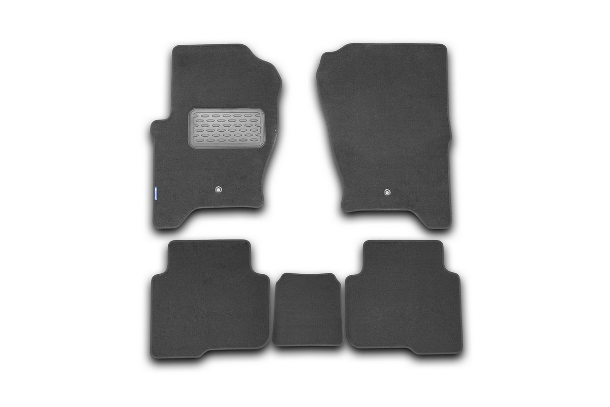 """Набор автомобильных ковриков """"Novline-Autofamily"""" для Land Rover Discovery 4 2010-2014, внедорожник, в салон, 5 шт"""