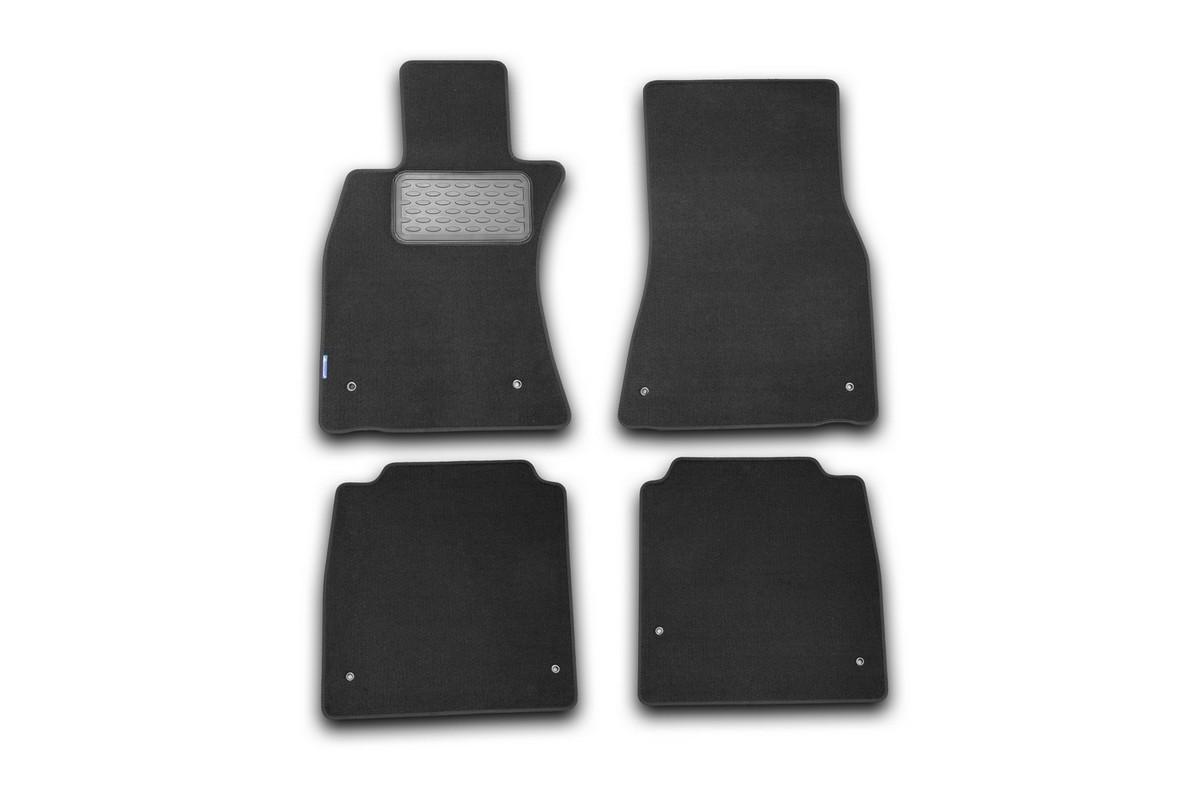 Набор автомобильных ковриков Novline-Autofamily для Lexus LS 600hL АКПП 2007-, седан, в салон, 4 штNLT.29.24.11.110khНабор автомобильных ковриков Novline-Autofamily, изготовленный из текстиля, состоит из 4 ковриков, которые учитывают все особенности каждой модели автомобиля и полностью повторяют контуры пола. Текстильные автомобильные коврики для салона произведены из высококачественного материала, который держит форму, прочный и не пачкает обувь. Коврики в салон не только улучшат внешний вид салона вашего автомобиля, но и надежно уберегут его от пыли, грязи и сырости, а значит, защитят кузов от коррозии. Текстильные коврики для автомобиля мягкие и приятные, а их основа из вспененного полиуретана не пропускает влагу. Ковры для автомобилей надежно крепятся на полу и не скользят, что очень важно во время движения. Чистятся коврики очень просто: как при помощи автомобильного пылесоса, так и различными моющими средствами. Набор подходит для Lexus LS 600hL АКПП седан с 2007 года выпуска.