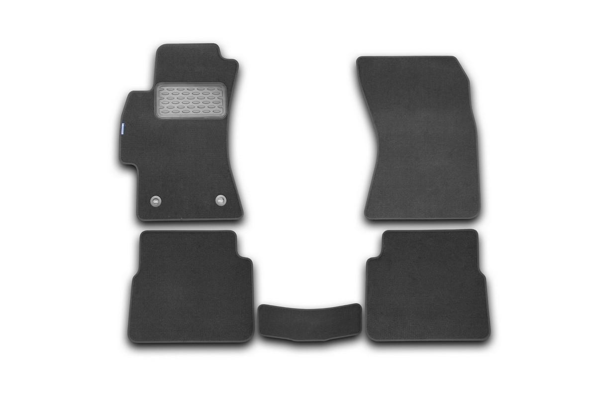 Набор автомобильных ковриков Novline-Autofamily для Subaru Impreza 2010-, хэтчбек, в салон, 5 штNLT.46.13.11.110khНабор автомобильных ковриков Novline-Autofamily, изготовленный из текстиля, состоит из 5 ковриков, которые учитывают все особенности каждой модели автомобиля и полностью повторяют контуры пола. Текстильные автомобильные коврики для салона произведены из высококачественного материала, который держит форму, прочный и не пачкает обувь. Коврики в салон не только улучшат внешний вид салона вашего автомобиля, но и надежно уберегут его от пыли, грязи и сырости, а значит, защитят кузов от коррозии. Текстильные коврики для автомобиля мягкие и приятные, а их основа из вспененного полиуретана не пропускает влагу. Ковры для автомобилей надежно крепятся на полу и не скользят, что очень важно во время движения. Чистятся коврики очень просто: как при помощи автомобильного пылесоса, так и различными моющими средствами. Набор подходит для Subaru Impreza хэтчбек с 2010 года выпуска.