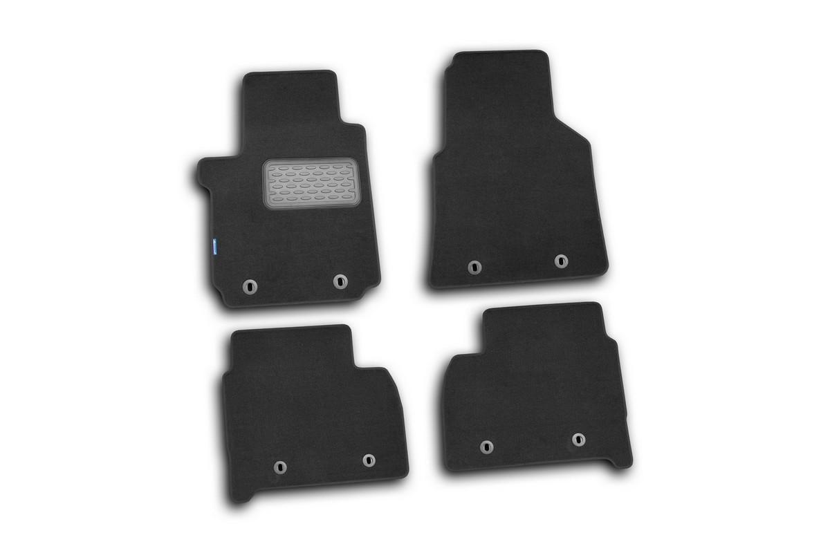 Набор автомобильных ковриков Novline-Autofamily для Volkswagen Amarok 2010-, пикап, в салон, цвет: черный, 4 шт. NLT.51.32.11.110kh