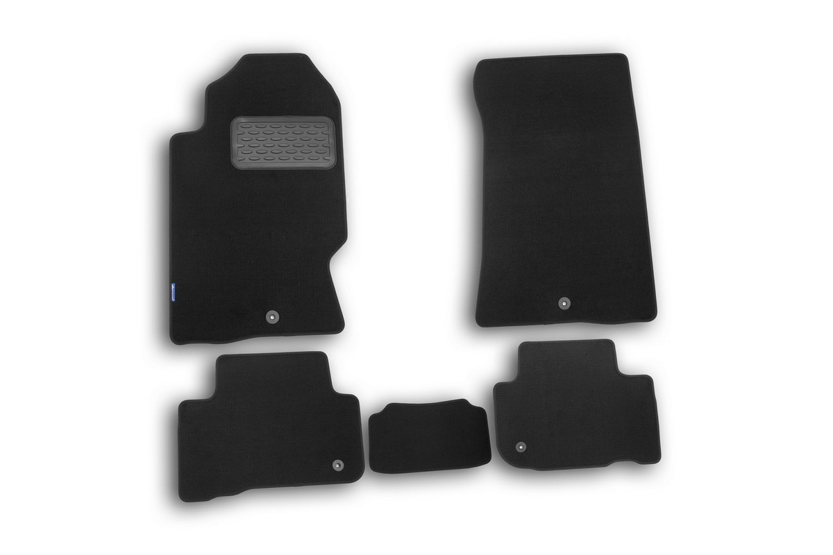 Набор автомобильных ковриков Novline-Autofamily для SsangYong Rexton 2006-, внедорожник, в салон, 5 штNLT.61.06.11.110khНабор автомобильных ковриков Novline-Autofamily, изготовленный из текстиля, состоит из 5 ковриков, которые учитывают все особенности каждой модели автомобиля и полностью повторяют контуры пола. Текстильные автомобильные коврики для салона произведены из высококачественного материала, который держит форму, прочный и не пачкает обувь. Коврики в салон не только улучшат внешний вид салона вашего автомобиля, но и надежно уберегут его от пыли, грязи и сырости, а значит, защитят кузов от коррозии. Текстильные коврики для автомобиля мягкие и приятные, а их основа из вспененного полиуретана не пропускает влагу. Ковры для автомобилей надежно крепятся на полу и не скользят, что очень важно во время движения. Чистятся коврики очень просто: как при помощи автомобильного пылесоса, так и различными моющими средствами. Набор подходит для SsangYong Rexton внедорожник с 2006 года выпуска.