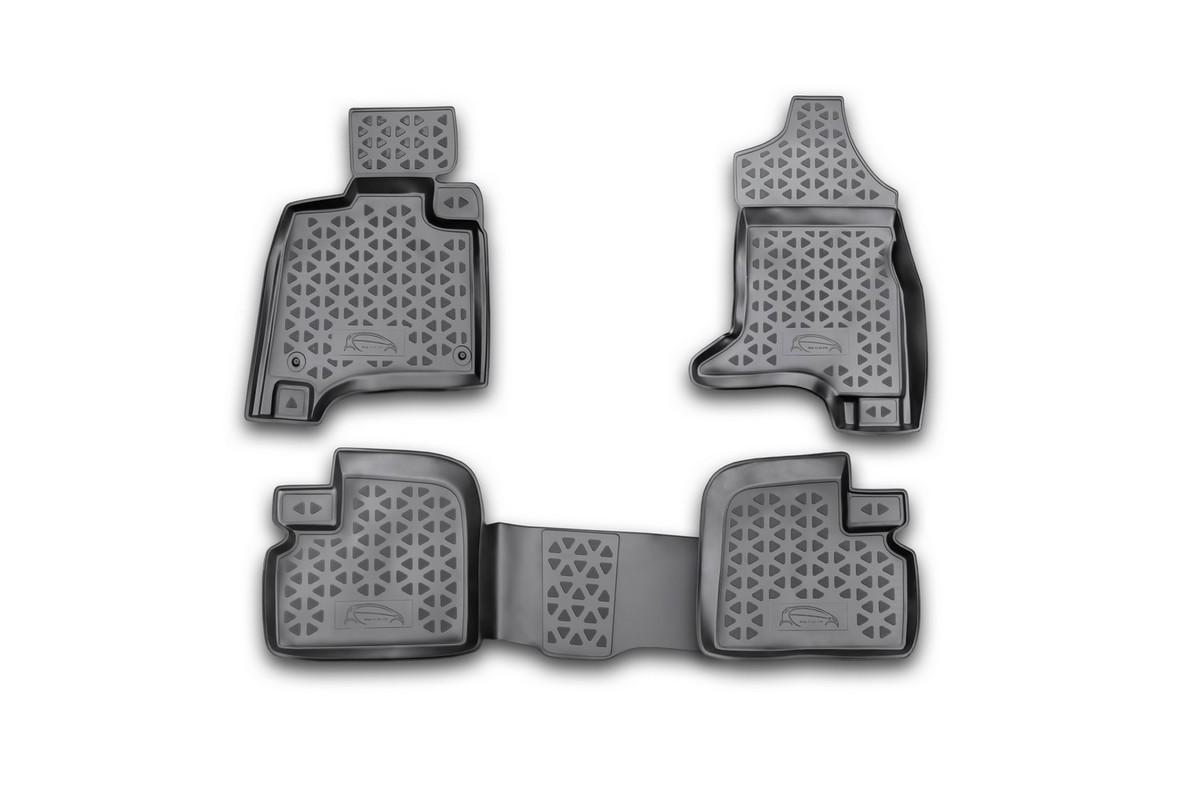 Набор автомобильных ковриков Novline-Autofamily для Mitsubishi i-MiEV 2011-, в салон, 4 штRSA-35.26.210Набор автомобильных ковриков Novline-Autofamily, изготовленный из полиуретана, состоит из 4 ковриков, которые учитывают все особенности каждой модели автомобиля и полностью повторяют контуры пола. Полиуретановые автомобильные коврики для салона произведены из высококачественного материала, который держит форму, прочный и не пачкает обувь. Коврики в салон не только улучшат внешний вид салона вашего автомобиля, но и надежно уберегут его от пыли, грязи и сырости, а значит, защитят кузов от коррозии. Полиуретановые коврики для автомобиля гладкие, приятные и не пропускают влагу. Ковры для автомобилей надежно крепятся на полу и не скользят, что очень важно во время движения. Чистятся коврики очень просто: как при помощи автомобильного пылесоса, так и различными моющими средствами. Набор подходит для Mitsubishi i-MiEV с 2011 года выпуска.