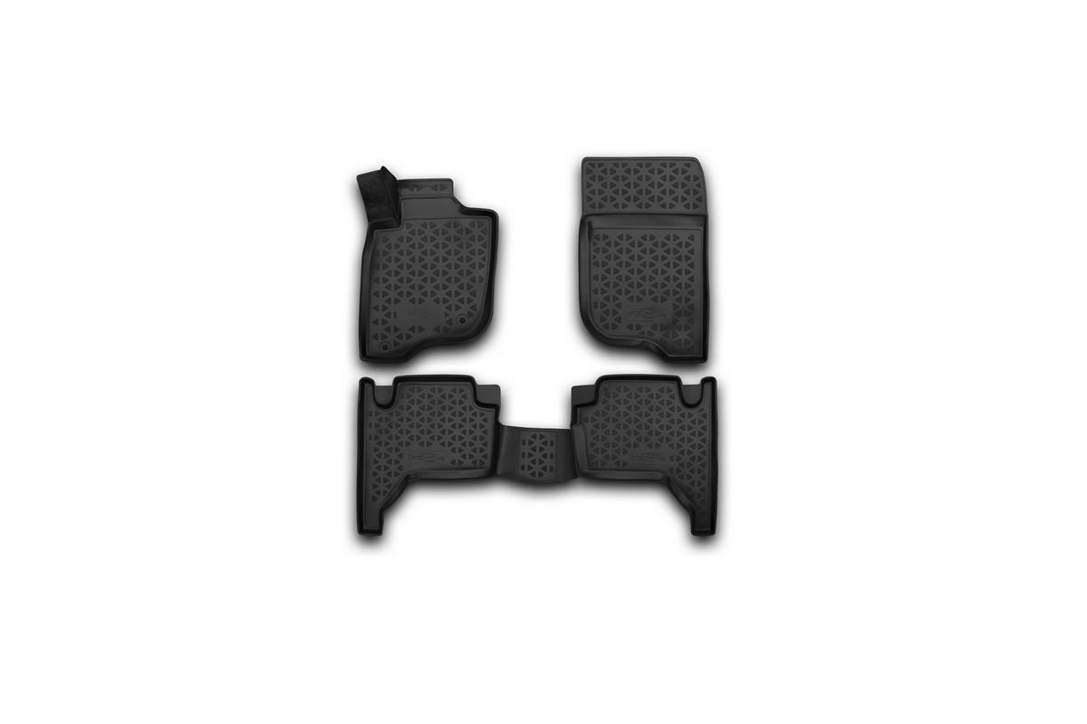 Набор автомобильных 3D-ковриков Novline-Autofamily для Mitsubishi L-200, 2005-2015, в салон, 4 штRSA-3D.35.15.210Набор Novline-Autofamily состоит из 4 ковриков, изготовленных из полиуретана.Основная функция ковров - защита салона автомобиля от загрязнения и влаги. Это достигается за счет высоких бортов, перемычки на тоннель заднего ряда сидений, элементов формы и текстуры, свойств материала, а также запатентованной технологией 3D-перемычки в зоне отдыха ноги водителя, что обеспечивает дополнительную защиту, сохраняя салон автомобиля в первозданном виде.Материал, из которого сделаны коврики, обладает антискользящими свойствами. Для фиксации ковров в салоне автомобиля в комплекте с ними используются специальные крепежи. Форма передней части водительского ковра, уходящая под педаль акселератора, исключает нештатное заедание педалей.Набор подходит для Mitsubishi L-200 2005-2015 года выпуска.