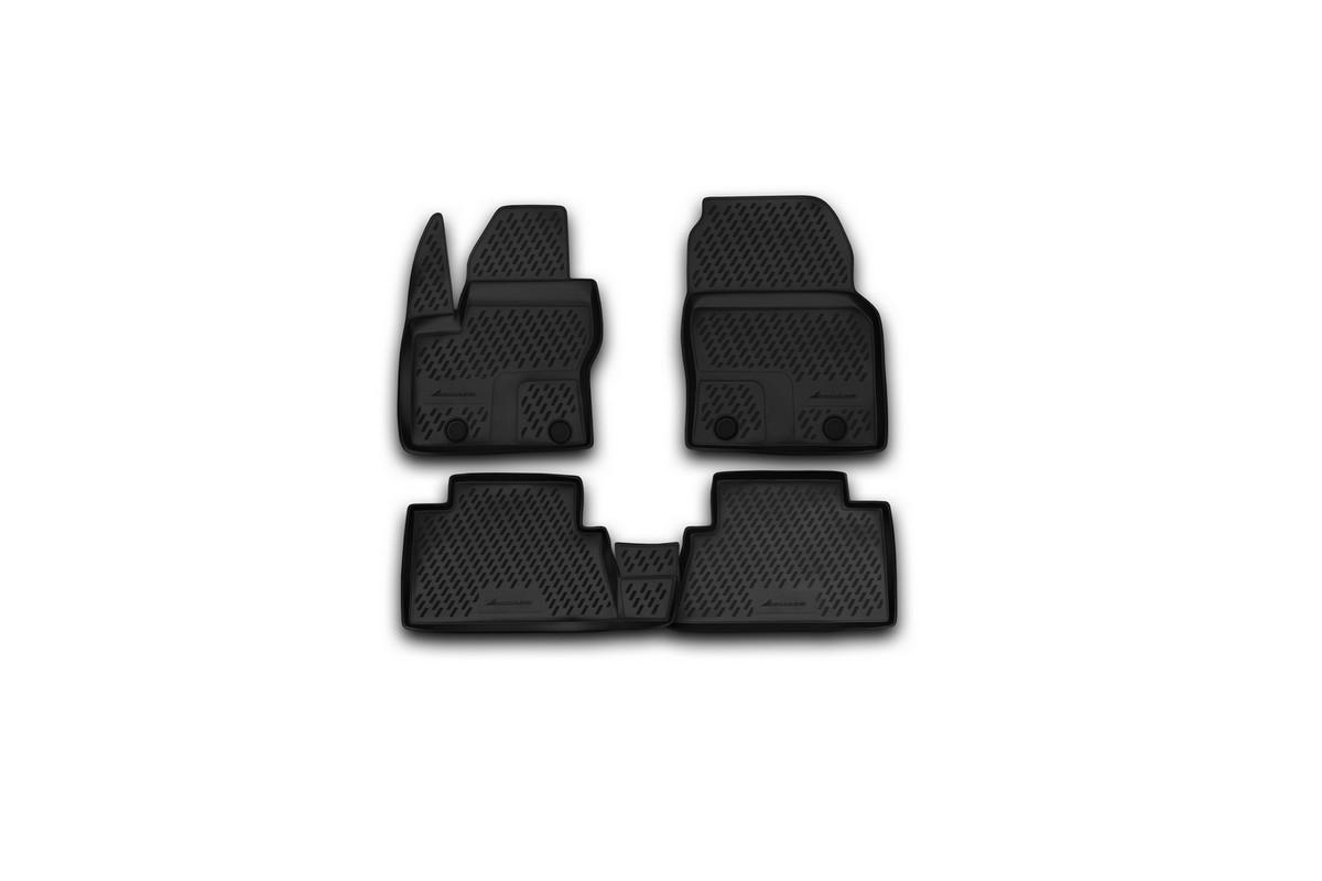 Набор автомобильных ковриков Novline-Autofamily для Ford Grand C-Max 11/2010-, в салон, 5 штs000.20Набор автомобильных ковриков Novline-Autofamily, изготовленный из полиуретана, состоит из 5 ковриков, которые учитывают все особенности каждой модели автомобиля и полностью повторяют контуры пола. Полиуретановые автомобильные коврики для салона произведены из высококачественного материала, который держит форму, прочный и не пачкает обувь. Коврики в салон не только улучшат внешний вид салона вашего автомобиля, но и надежно уберегут его от пыли, грязи и сырости, а значит, защитят кузов от коррозии. Полиуретановые коврики для автомобиля гладкие, приятные и не пропускают влагу. Ковры для автомобилей надежно крепятся на полу и не скользят, что очень важно во время движения. Чистятся коврики очень просто: как при помощи автомобильного пылесоса, так и различными моющими средствами. Набор подходит для Ford Focus C-MAX с 2003 года выпуска.