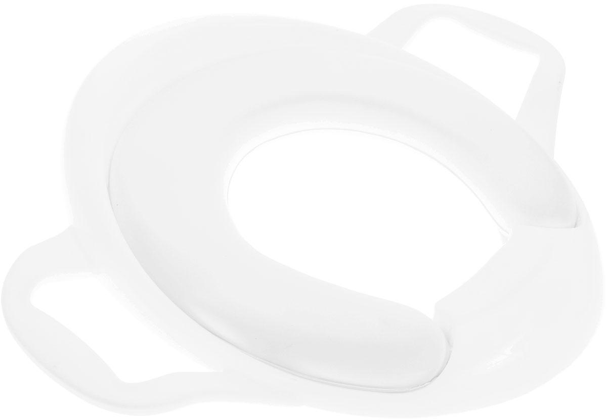 Roxy-kids Адаптер для унитаза с ручками в стороны цвет белыйRTS-622_белыйАдаптер для унитазов Roxy-kids с ручками в стороны поможет малышу привыкнуть ко взрослому туалету и обеспечит крохе необходимый комфорт.Удобная анатомическая форма, мягкость сидения и наличие ручек, за которые удобно держаться - все это делает адаптер незаменимым помощником для малыша, только-только привыкающего к взрослому туалету. Устройство легко моется и подходит для всех типов унитазов. Изготовлено из безопасного полимерного сырья.Обращаем ваше внимание, что оставлять ребенка на унитазе без присмотра не рекомендуется.