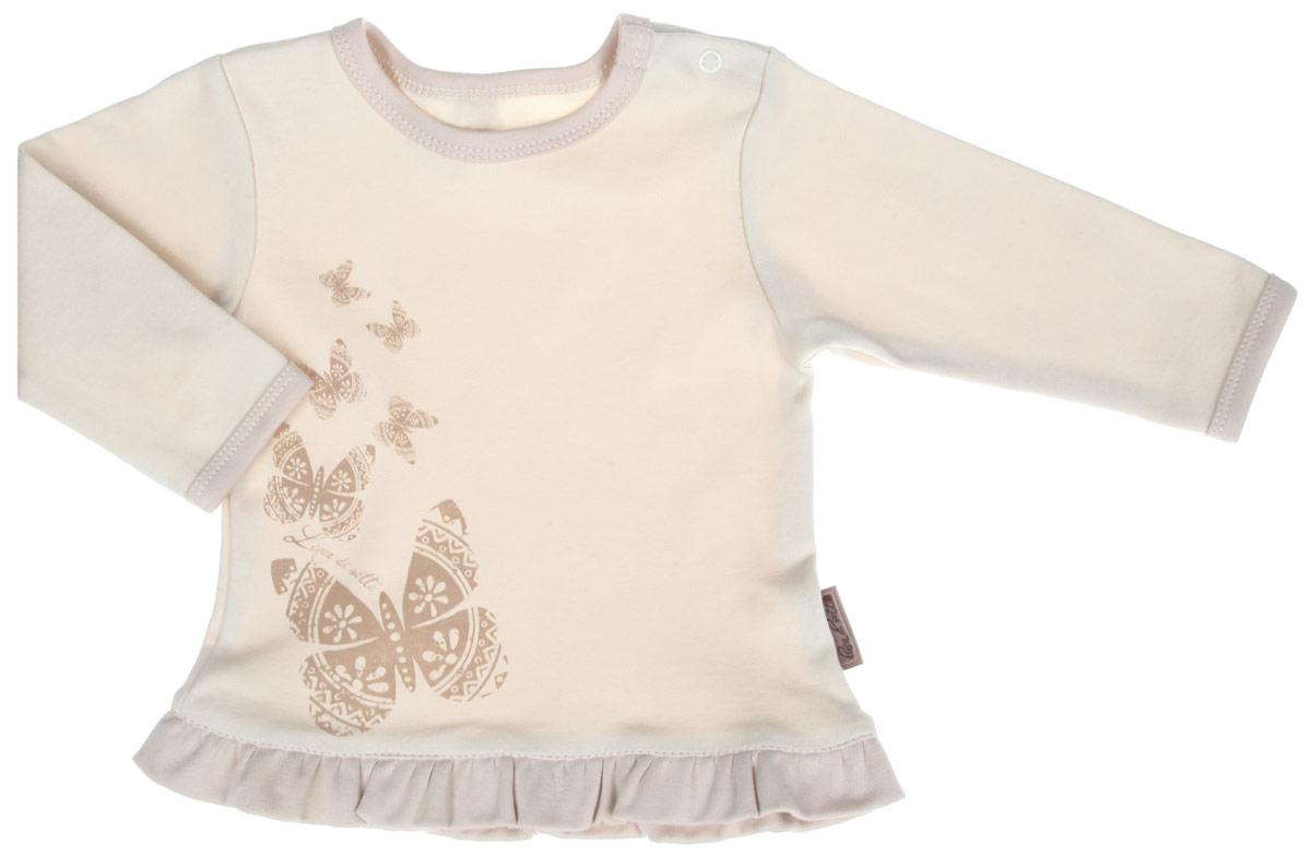 Кофточка для девочки Linea Di Sette Бабочка, цвет: бежевый. 03-0704. Размер 74, 9-12 месяцев манометр elitech 0704 001701