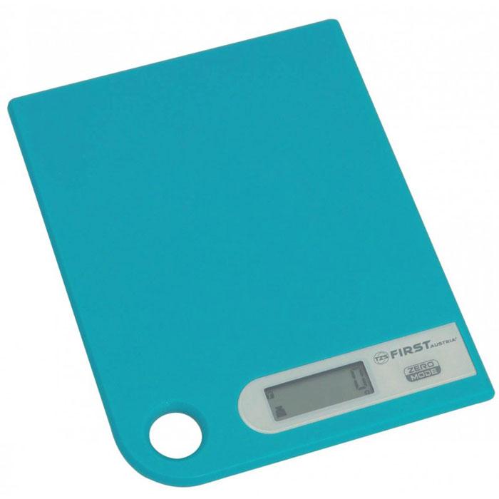First 6401-1, Blue весы кухонныеFA-6401-1 BlueПростые и удобные для использования цифровые весы First 6401-1 с петлей для подвешивания всегда будут под рукой. За ними легко ухаживать - достаточно просто протереть стеклянную поверхность платформы. Для правильной работы максимальный вес продуктов не должен превышать 5 кг.