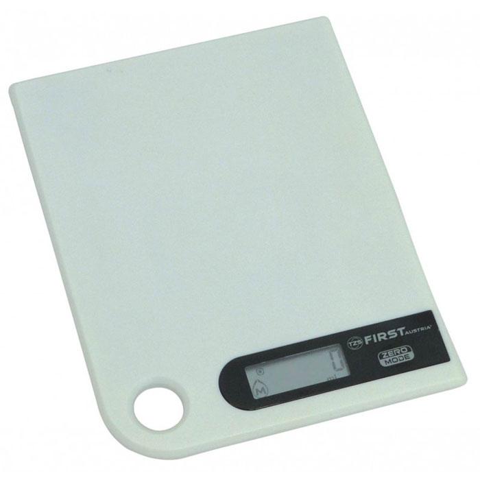 First 6401-1, White весы кухонныеFA-6401-1 WhiteПростые и удобные для использования цифровые весы First 6401-1 с петлей для подвешивания всегда будут под рукой. За ними легко ухаживать - достаточно просто протереть стеклянную поверхность платформы. Для правильной работы максимальный вес продуктов не должен превышать 5 кг.
