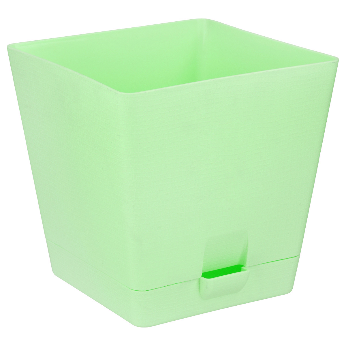 Горшок для цветов Le Parterre, с поддоном, цвет: светло-зеленый, 3 л тек а тек горшок с поддоном le parterre 2 л 30х11 5х11 см см пластик зеленый s t azyyj