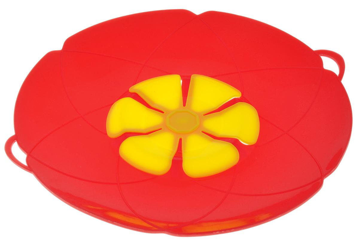 Крышка-невыкипайка Mayer & Boch, цвет: красный, желтый. Диаметр 28 см24257_красный, желтыйКрышка-невыкипайка Mayer & Boch изготовлена из силикона высокого качества. Не теряет форму от высоких температур. Крышка-невыкипайка предотвращает выкипание и разбрызгивание во время приготовления. Ваша кухня всегда будет в чистоте. Вы даже можете оставлять без присмотра готовящуюся пищу. При хранении в прохладных местах крышка обеспечит свежесть продуктов.Также изделие используется в качестве пароварки - можно готовить овощи и морепродукты на пару.Подходит для использования на посуде диаметром 15-30 см. Можно мыть в посудомоечной машине.
