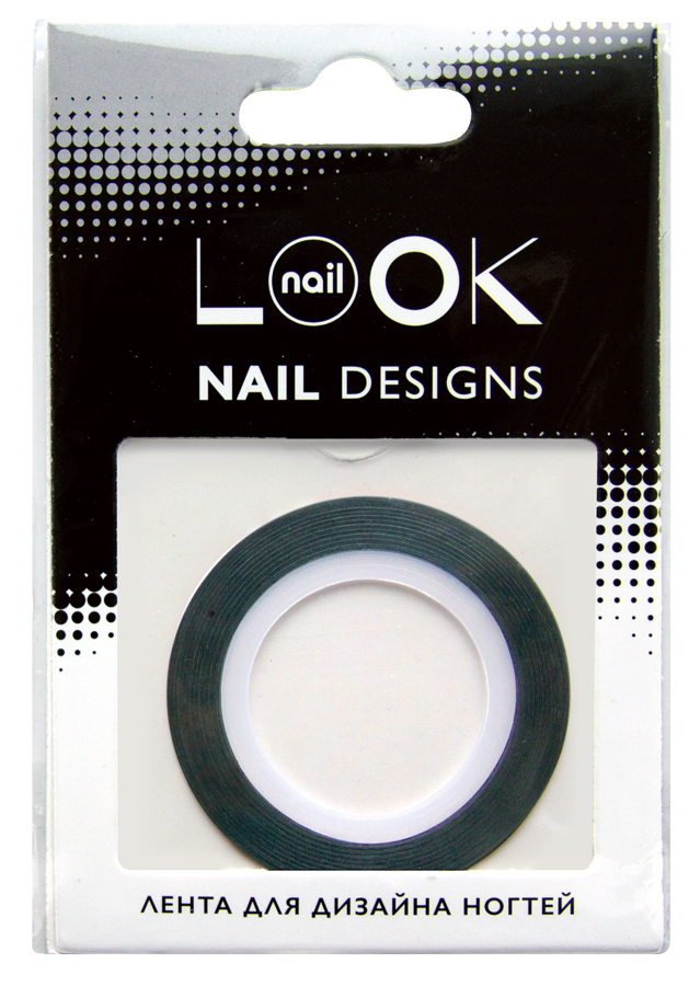 nailLOOK Лента для дизайна ногтей Stripping tape50223Striping tape Лента для дизайна ногтей, полоски. Лента - очень простой в использовании материал для создания эффектных и неповторимых дизайнов. Ленту можно использовать двумя способами,как декоративный элемент дизайна, идеально сочетается с эмалевыми лаками или в качестве вспомогательного материала для создания дизайна с геометрическими рисунками. Нанесите цветной лак.Дайте высохнуть. Приклейте ленту на ноготь. Нанесите лак поверх ленты. Аккуратно удалите ленту пока лак не высох. Нанесите топовое покрытие.