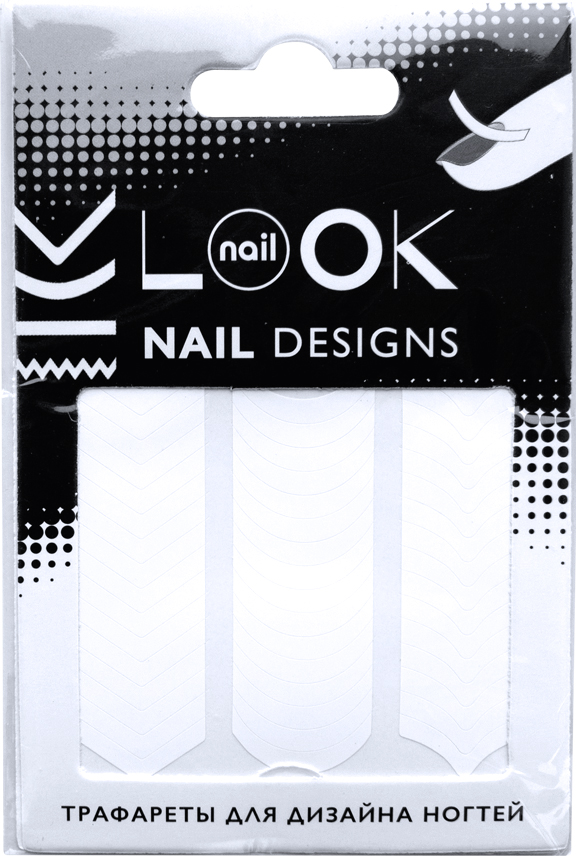 nailLOOK Трафареты для дизайна ногтей Tip Guides616-106827Самоклеящиеся трафареты используются для создания классического французского маникюра, модного лунного маникюра, а также необычных дизайнов.Как ухаживать за ногтями: советы эксперта. Статья OZON Гид