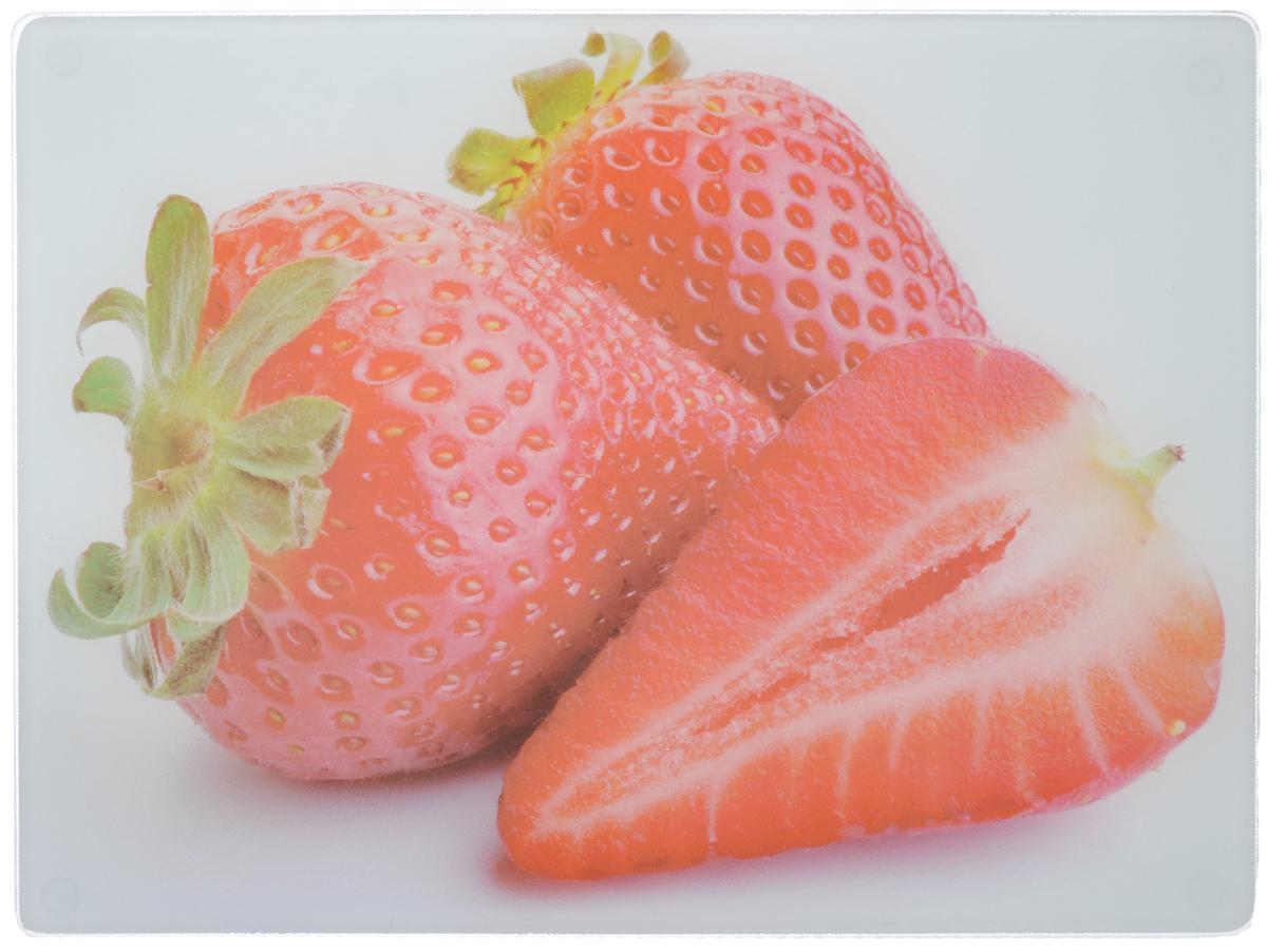 Доска разделочная Mayer & Boch Клубника, 40 х 30 см23300-2Разделочная доска Mayer & Boch Клубника, выполненная из высококачественного стекла, устойчива к повреждениям и не впитывает запахи. Она идеально подходит для разделки мяса, рыбы, приготовления теста и для нарезки любых продуктов. Гладкая поверхность предотвратит появление разводов, царапин и появление бактерий. Разделочная доска Mayer & Boch Клубника станет незаменимым аксессуаром на любой кухне.