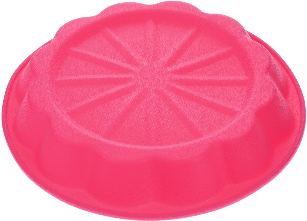 Форма для выпечки Marmiton Апельсин, цвет: розовый, диаметр 24,5 см16031_розовыйФорма Marmiton Апельсин выполнена из силикона, благодаря этому выпечку вынимать легко и просто. Материал устойчив к фруктовым кислотам, может быть использован в духовках и микроволновых печах.Такая форма идеальна для приготовления разнообразной выпечки, льда, конфет, желе, запеканок, шоколада, пудингов. Изделие выдерживает температуру от -40°С до +240°С. Можно мыть и сушить в посудомоечной машине.Диаметр (по верхнему краю): 24,5 см.Диаметр дна: 19 см.Высота стенки: 3,5 см.
