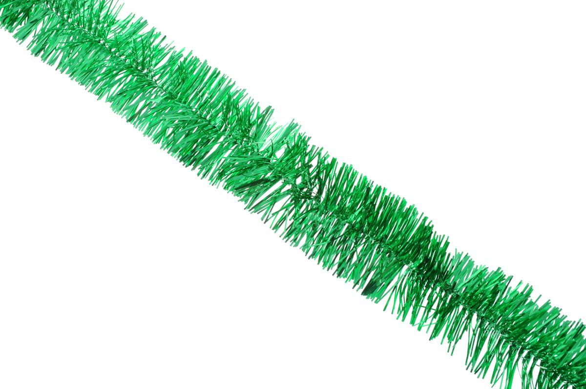 Мишура новогодняя Sima-land, цвет: зеленый, диаметр 4 см, длина 138 см. 70130538586Новогодняя мишура Sima-land, выполненная из фольги, поможет вам украсить свой дом к предстоящим праздникам. А новогодняя елка с таким украшением станет еще наряднее. Мишура армирована, то есть имеет проволоку внутри и способна сохранять любую форму, которую вы ей придадите.Новогодней мишурой можно украсить все, что угодно - елку, квартиру, дачу, офис - как внутри, так и снаружи. Можно сложить новогодние поздравления, буквы и цифры, мишурой можно украсить и дополнить гирлянды, можно выделить дверные колонны, оплести дверные проемы.