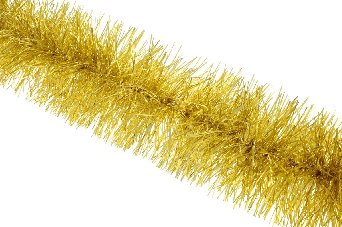 Мишура новогодняя Sima-land, цвет: золотистый, диаметр 9 см, длина 165 см. 623233623233_золотистыйМишура новогодняя Sima-land, выполненная из фольги, поможет вам украсить свой дом к предстоящим праздникам. Мишура армирована, то есть имеет проволоку внутри и способна сохранять приданную ей форму. Новогодняя елка с таким украшением станет еще наряднее. Новогодней мишурой можно украсить все, что угодно - елку, квартиру, дачу, офис - как внутри, так и снаружи. Можно сложить новогодние поздравления, буквы и цифры, мишурой можно украсить и дополнить гирлянды, можно выделить дверные колонны, оплести дверные проемы.