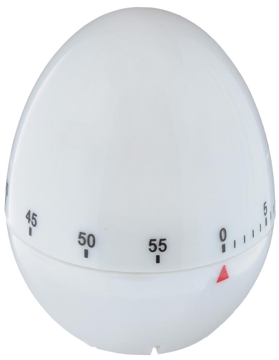 """Кухонный таймер """"Яйцо"""" изготовлен из пластика. Таймер выполнен  в виде куриного яйца. Максимальное время, на которое вы можете  поставить таймер, составляет 60 минут. После того, как время  истечет, таймер громко зазвенит.  Оригинальный дизайн таймера украсит интерьер любой  современной кухни, и теперь вы сможете без труда вскипятить  молоко, отварить пельмени или вовремя вынуть из духовки  аппетитный пирог."""