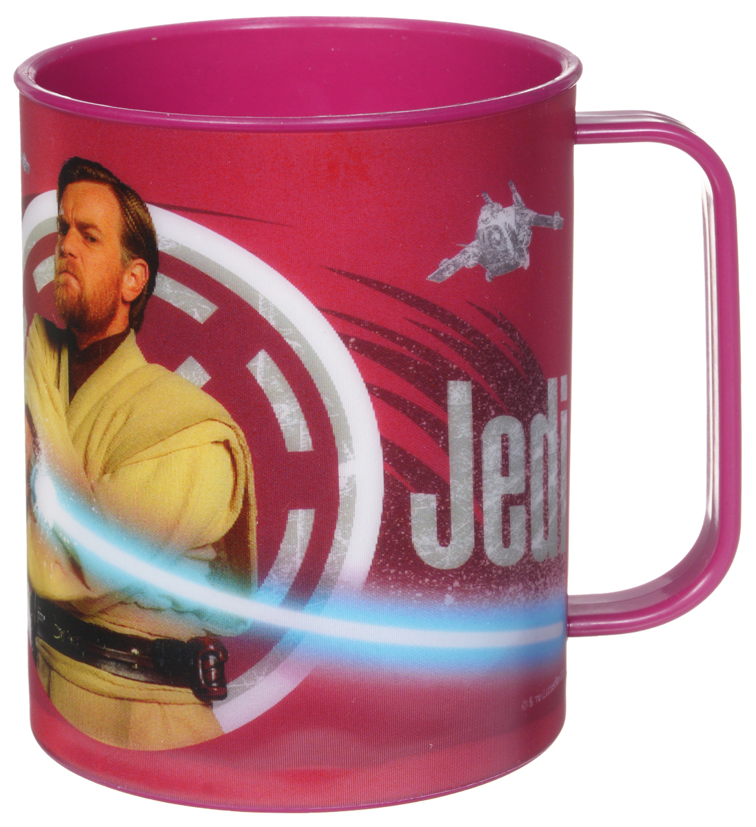 Star Wars Кружка детская Джедай 325 млSWM325-03Детская кружка Star Wars Джедай станет отличным подарком для любого фаната знаменитой саги. Она выполнена из полипропилена и оформлена рисунком с изображением джедая Оби-Вана Кеноби. Специальное покрытие с отливом делает изображение на кружке более объемным.Объем кружки: 325 мл. Не подходит для использования в посудомоечной машине и СВЧ-печи.