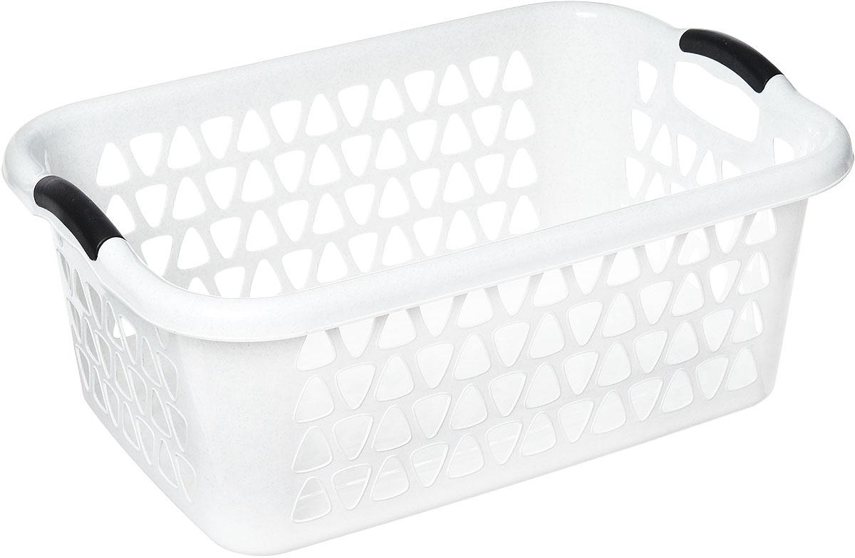 """Классическая прямоугольная корзина Dunya Plastik """"Симпатия"""", изготовленная из пластика, предназначена для хранения различных вещей в ванной, на кухне, даче или гараже. Позволяет хранить вещи, исключая возможность их потери. Это легкая корзина со сплошным дном, жесткой кромкой и перфорированными стенками. Изделие оснащено удобными ручками."""