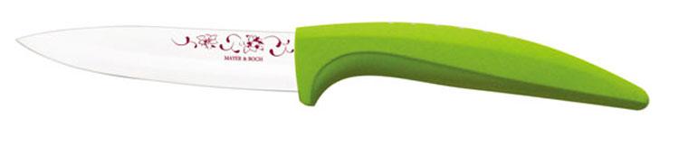 Нож универсальный Mayer & Boch, керамический, цвет: салатовый, белый, длина лезвия 10 см. 2184821848_салатовыйУниверсальный нож Mayer & Boch выполнен из высококачественной керамики, рукоятка изготовлена из термопластика. Лезвие декорировано оригинальным цветочным рисунком. Нож легко режет любые виды продуктов. Высокая плотность и качество ножа делают его устойчивым к пищевым кислотам, препятствуют появлению пятен или ржавчины. Нож не придает металлического вкуса или запаха продуктам, а также имеет поверхность, не допускающую прилипания, что делает нож более гигиеничным и безопасным. Легко моется. Нельзя мыть в посудомоечной машине. Общая длина ножа: 20 см.