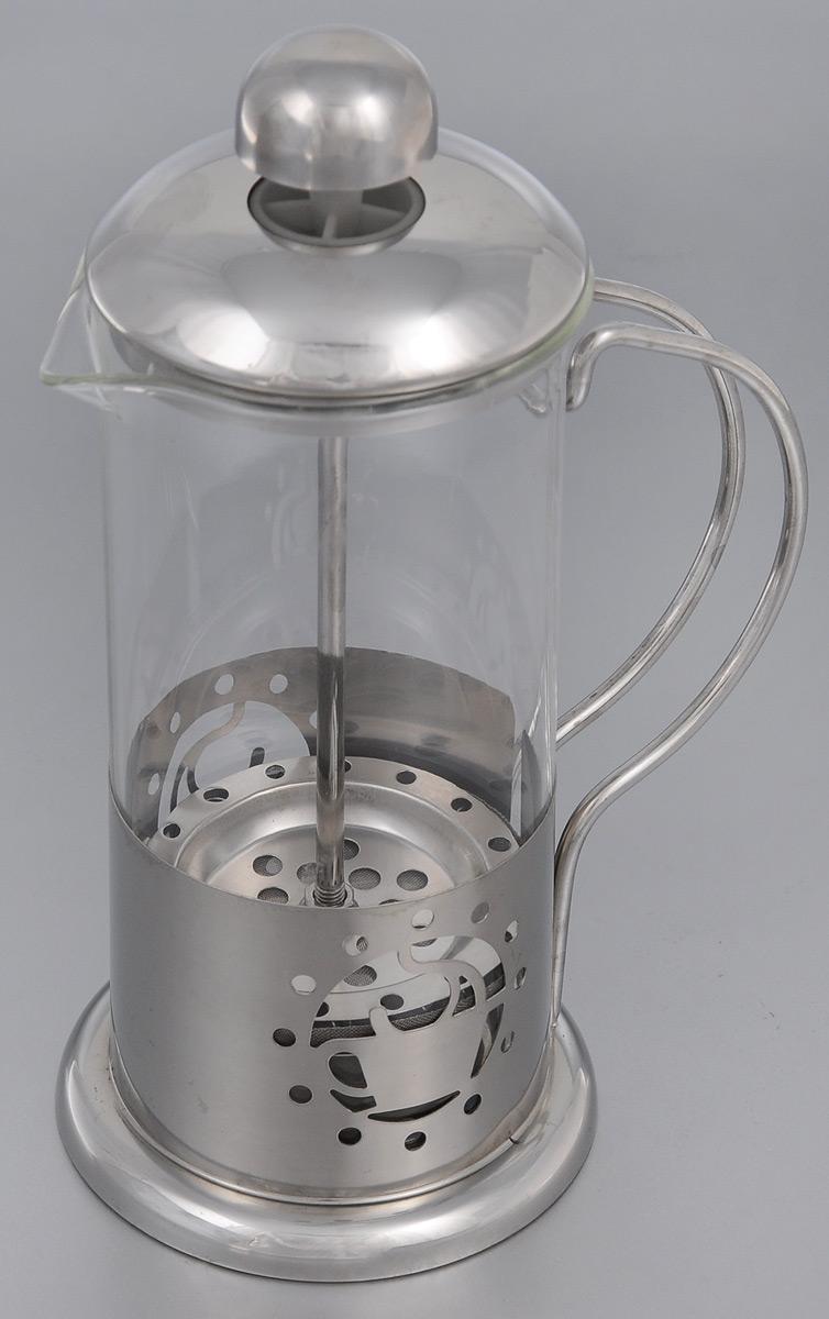 Френч-пресс Mayer & Boch, 350 мл. 2493224932Френч-пресс Mayer & Boch  изготовлен из высококачественной нержавеющей стали и жаропрочного стекла. Фильтр-поршень из нержавеющей стали выполнен по технологии press-up для обеспечения равномерной циркуляции воды. Засыпая чайную заварку или кофе под фильтр, заливая горячей водой, вы получаете ароматный напиток с оптимальной крепостью и насыщенностью. Остановить процесс заваривания легко, для этого нужно просто опустить поршень, и все уйдет вниз, оставляя вверху напиток, готовый к употреблению.Френч-пресс Mayer & Boch позволит быстро и просто приготовить свежий и ароматный кофе или чай.
