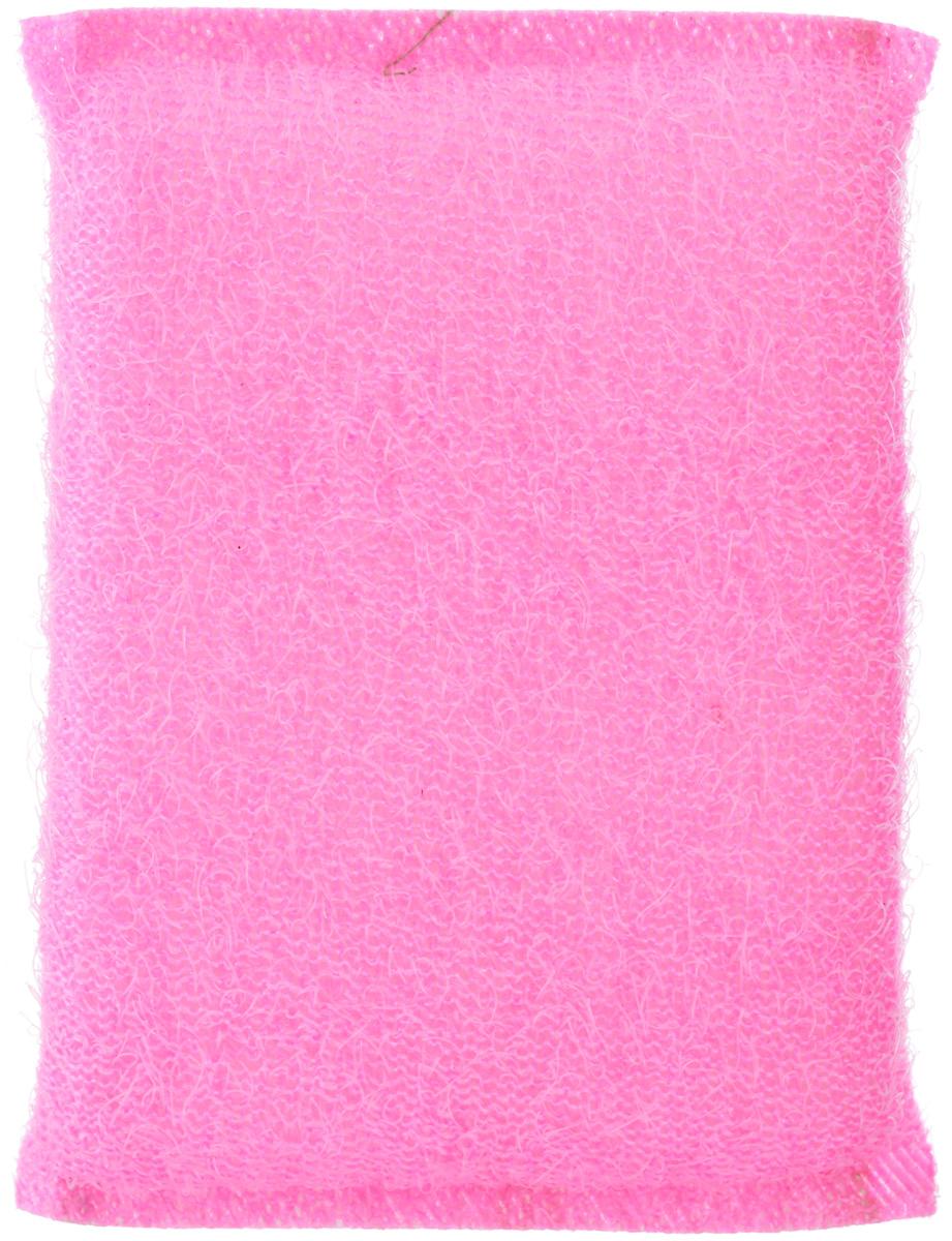 Губка для мытья посуды Home Queen, с металлизированной нитью, цвет: розовый, 120 х 80 х 25 мм38_розовыйГубка для мытья посуды Home Queen изготовлена из поролона в ворсистой сетке из полипропиленовой металлизированной нити. Предназначена для мытья посуды и кухонных поверхностей. Удобна в применении. Позволяет экономить моющее средство, благодаря структуре поролона, который дает много пены при использовании.Материал: полипропиленовая металлизированная нить, поролон. Размер губки: 12 см х 9 см х 2 см.