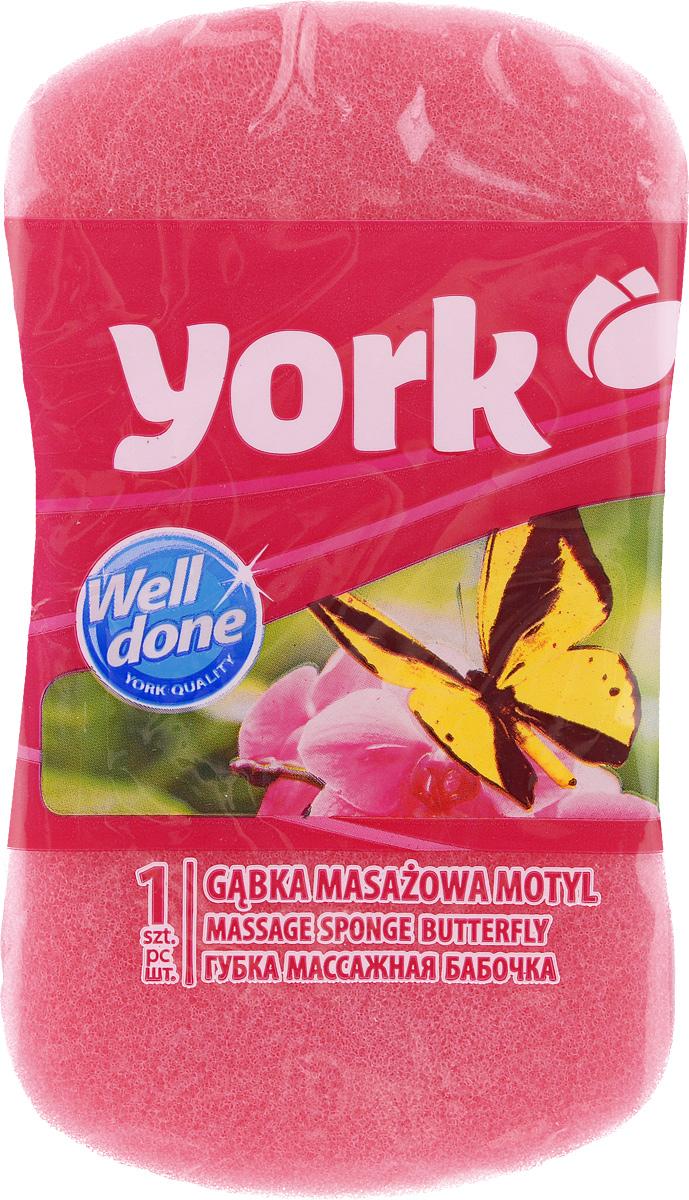 Губка для тела York Бабочка, цвет: розовый, 16 х 9 х 5 см1103_розовыйГубка для тела York Бабочка изготовлена из мягкого полимера. Форма в виде бабочки отлично подходит для мытья и массажа тела. Губка двухслойная. Мягкий деликатный слой бережно очищает, а шероховатый пористый слой стимулирует кровообращение и удаляет омертвевшие клетки кожи. Губка создает воздушную пену даже при небольшом количестве геля для душа. Эффективно очищает и массирует кожу, повышая тонус.