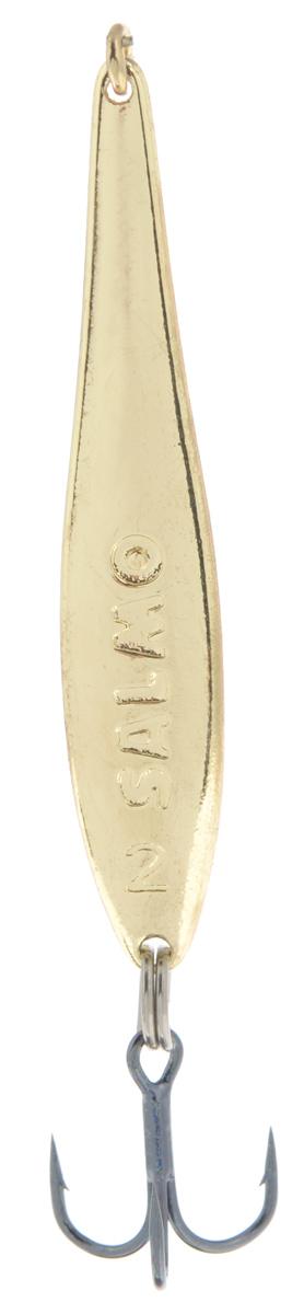 Блесна вертикальная зимняя Lucky John, цвет: золотой, 4,2 см, 3,5 г lucky john croco spoon big game mission 24гр 004